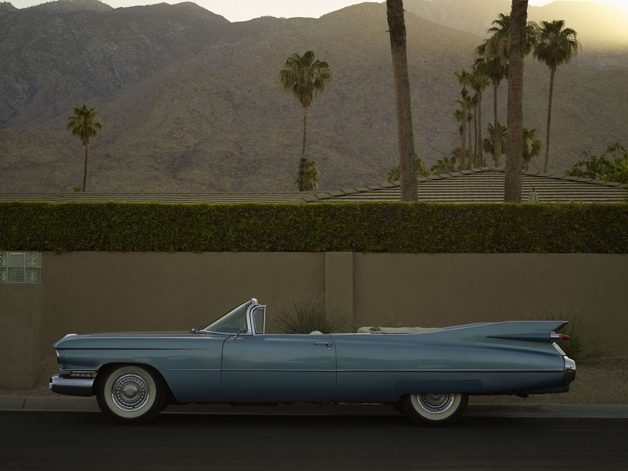 Sky Blue Cadillac - I Heart Palm Springs Collection - Fine Art Photography by Toby Dixon