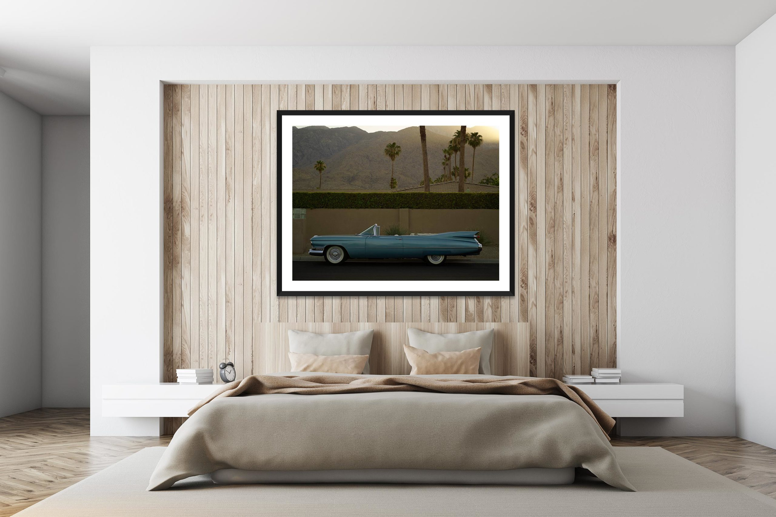 Sky Blue Cadillac - Black Frame - I Heart Palm Springs Collection - Fine Art Photography by Toby Dixon
