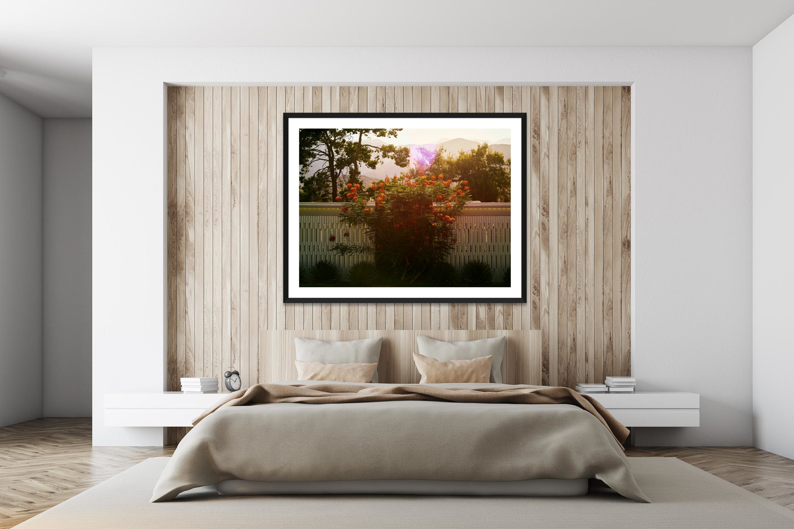Backlit Bouquet - Black Frame - I Heart Palm Springs Collection - Fine Art Photography by Toby Dixon