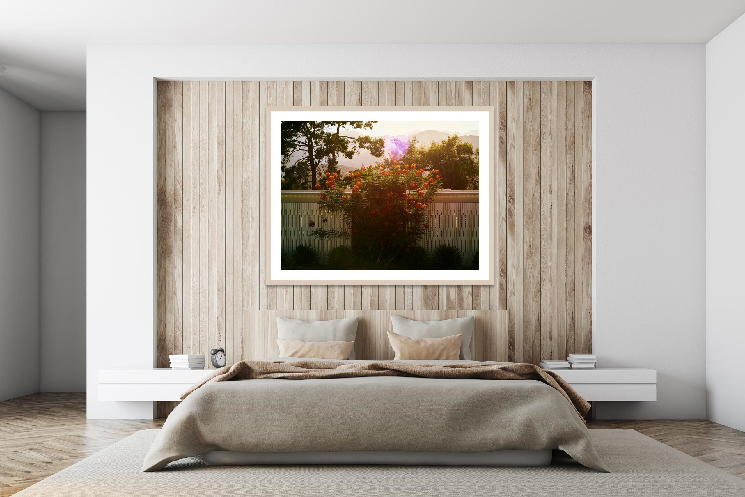 Backlit Bouquet - Timber Frame - I Heart Palm Springs Collection - Fine Art Photography by Toby Dixon