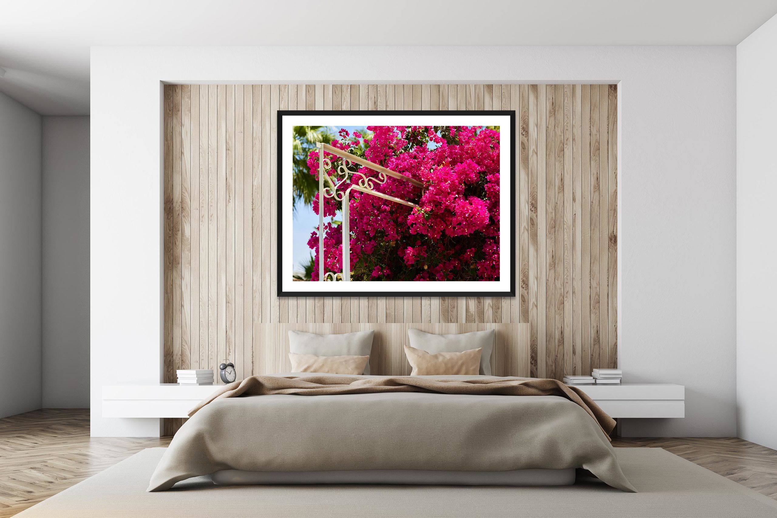 Pink Bloom - Timber Frame - I Heart Palm Springs Collection - Fine Art Photography by Toby Dixon