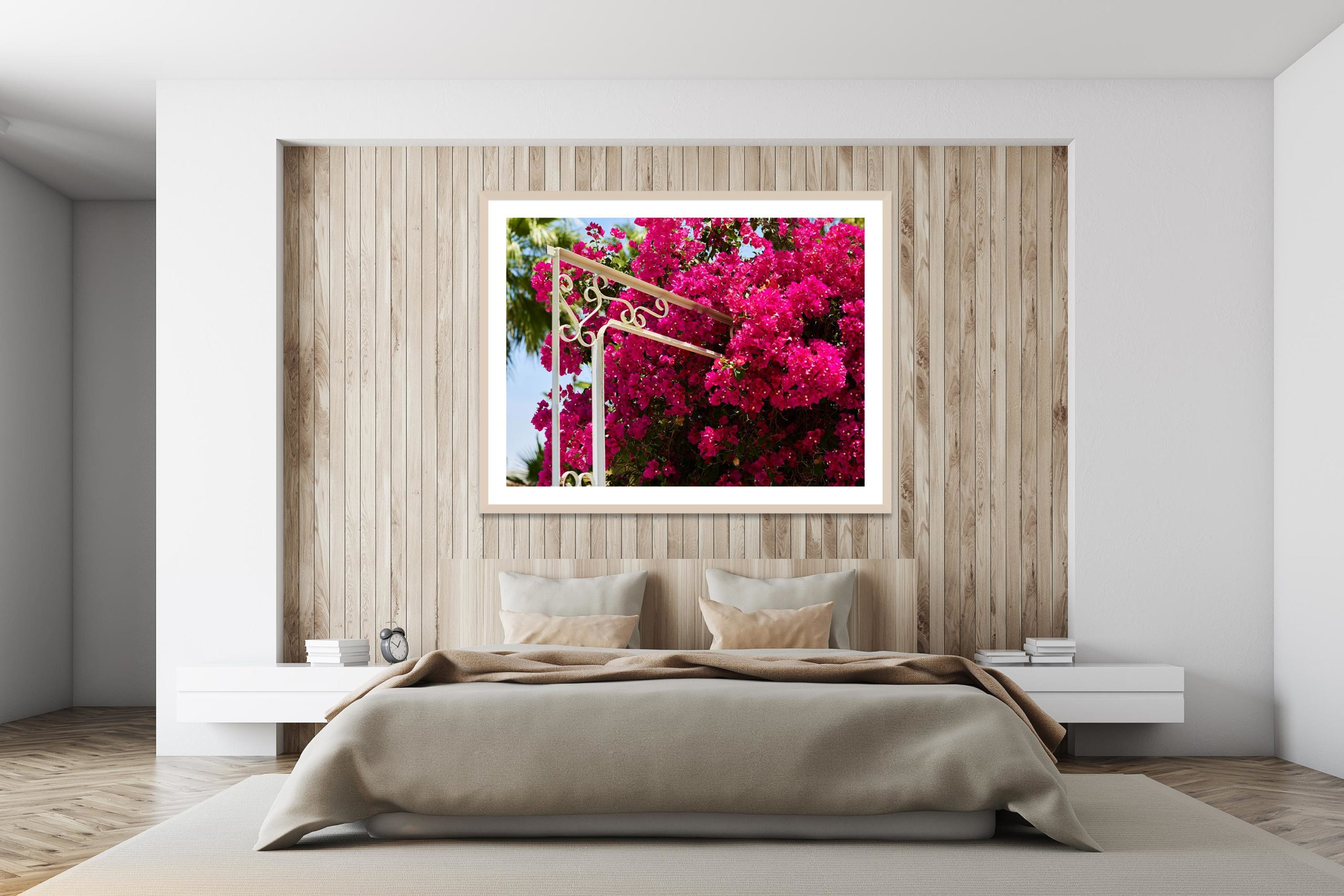 Pink Bloom - White Frame - I Heart Palm Springs Collection - Fine Art Photography by Toby Dixon