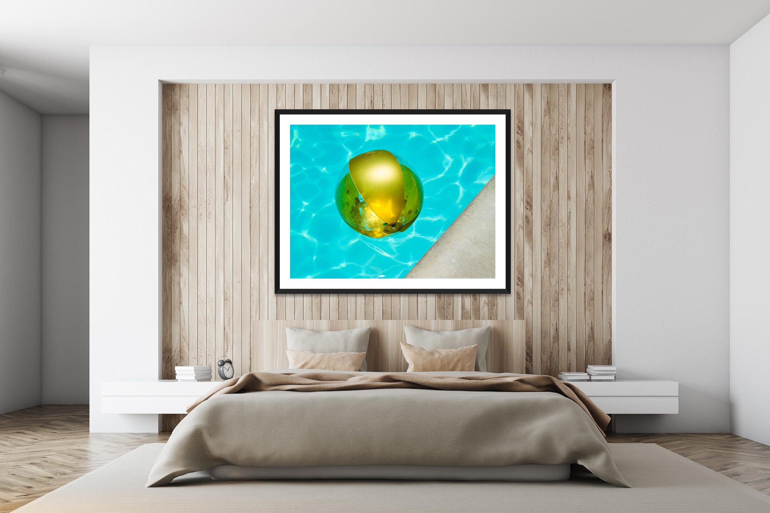 Gold Ball - Black Frame - I Heart Palm Springs Collection - Fine Art Photography by Toby Dixon