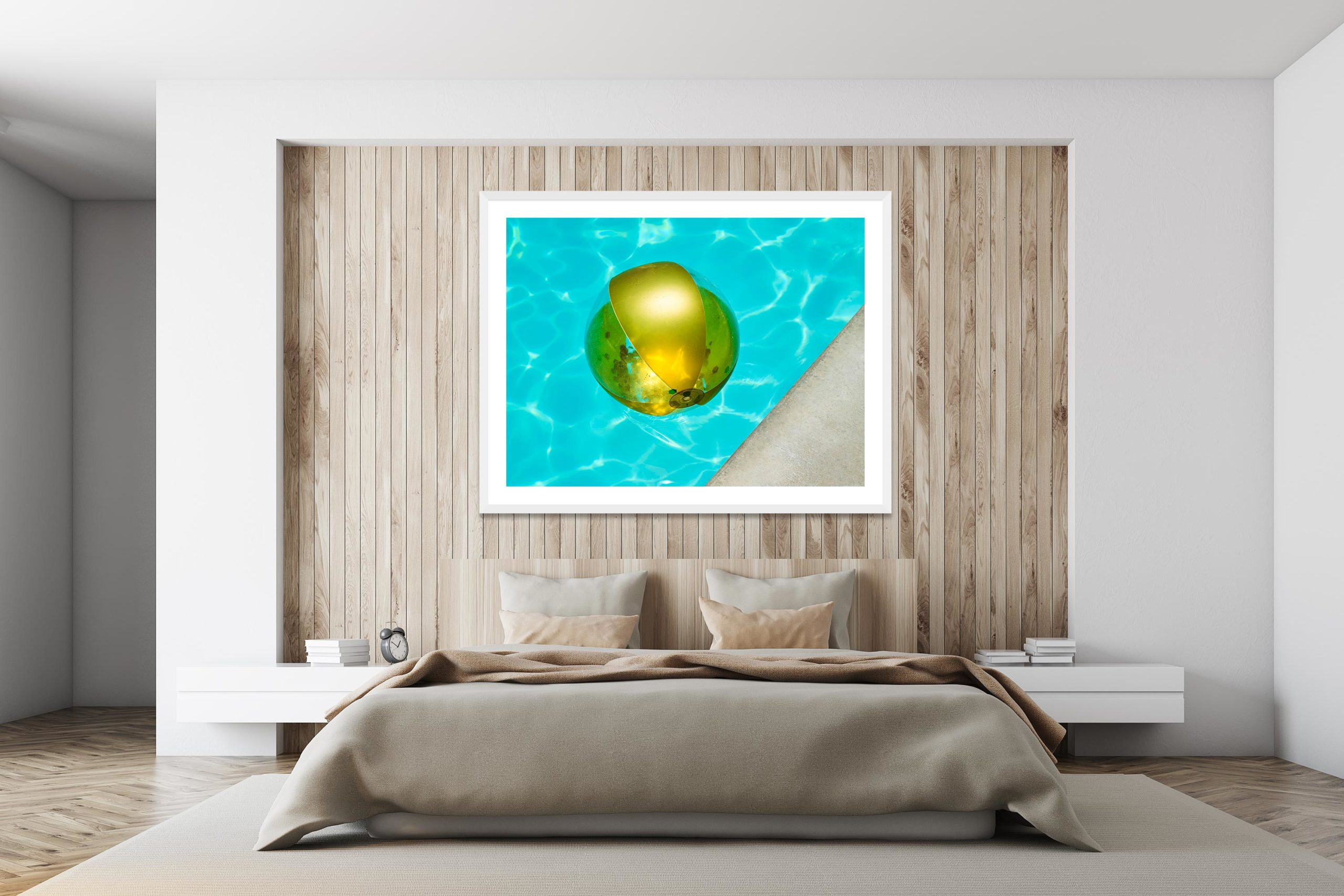 Gold Ball - White Frame - I Heart Palm Springs Collection - Fine Art Photography by Toby Dixon
