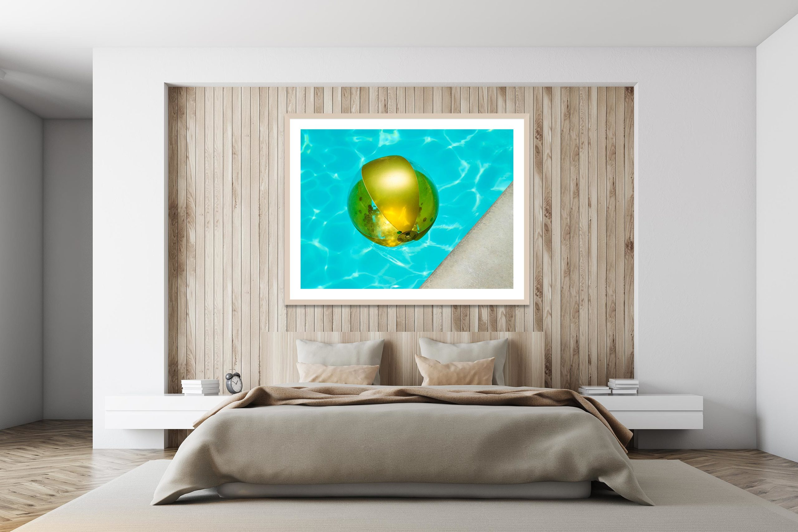 Gold Ball - Timber Frame - I Heart Palm Springs Collection - Fine Art Photography by Toby Dixon
