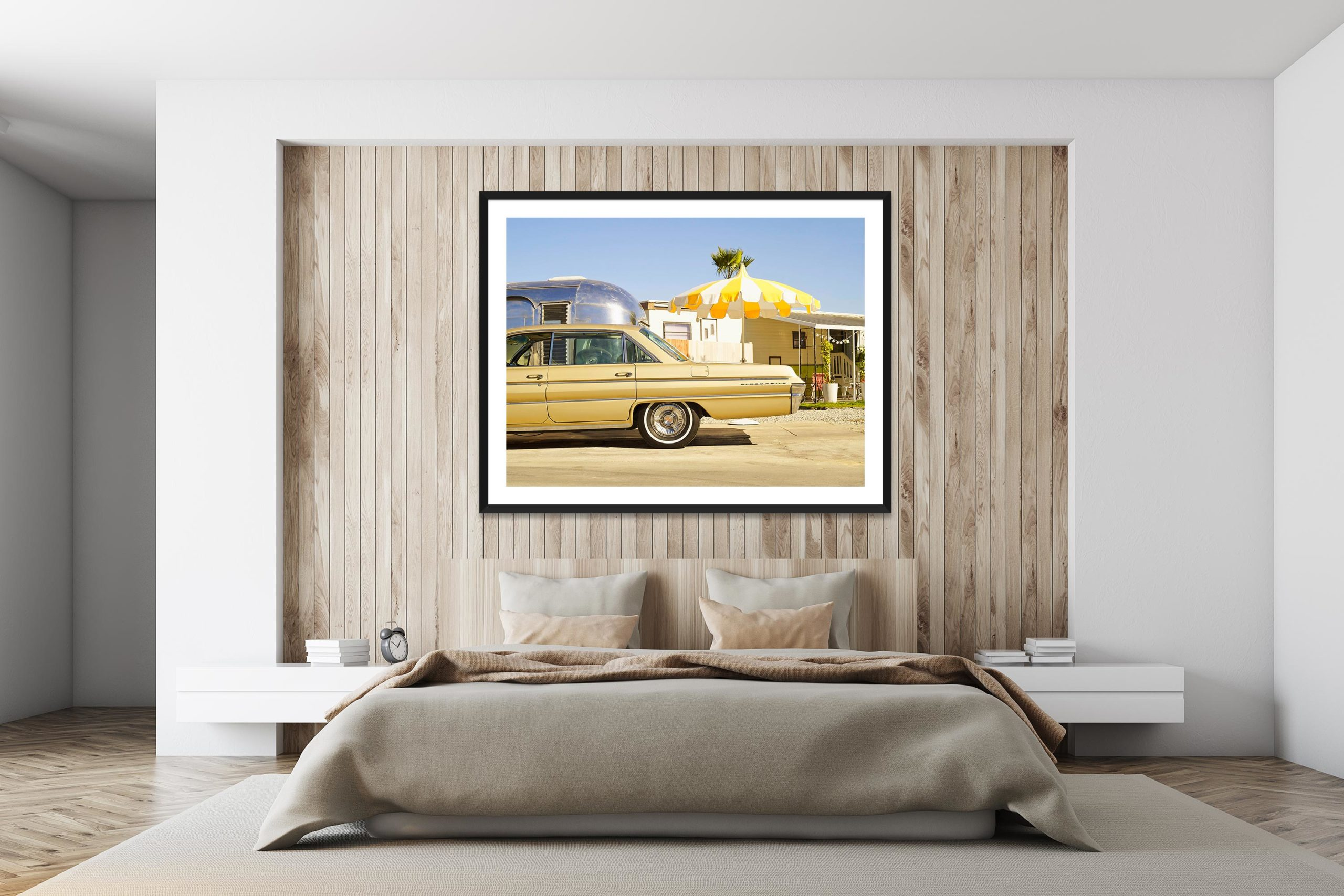 Oldsmobile In The Trailer Park - Black Frame - I Heart Palm Springs Collection - Fine Art Photography by Toby Dixon