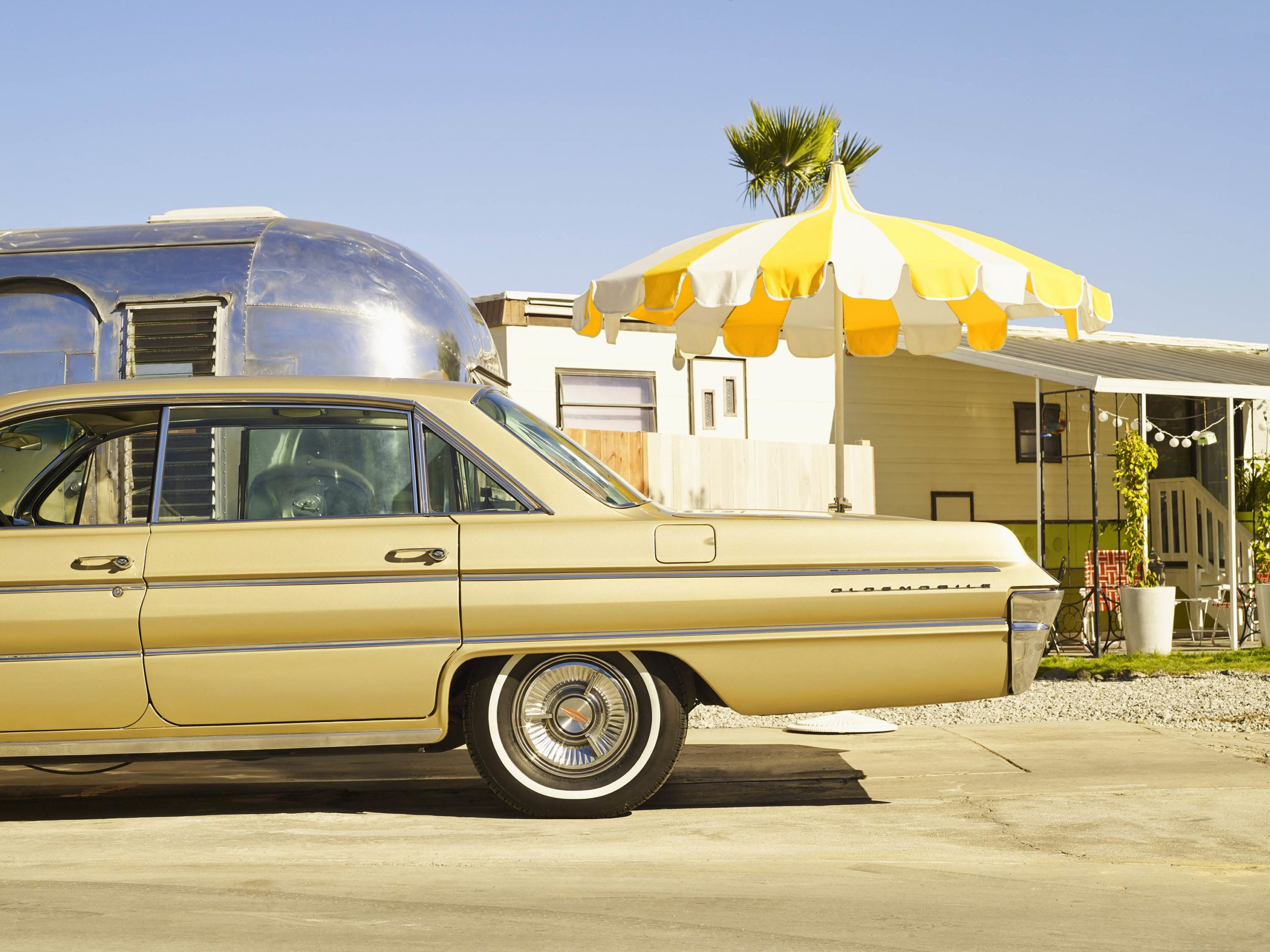 Oldsmobile In The Trailerpark - I Heart Palm Springs Collection - Fine Art Photography by Toby Dixon