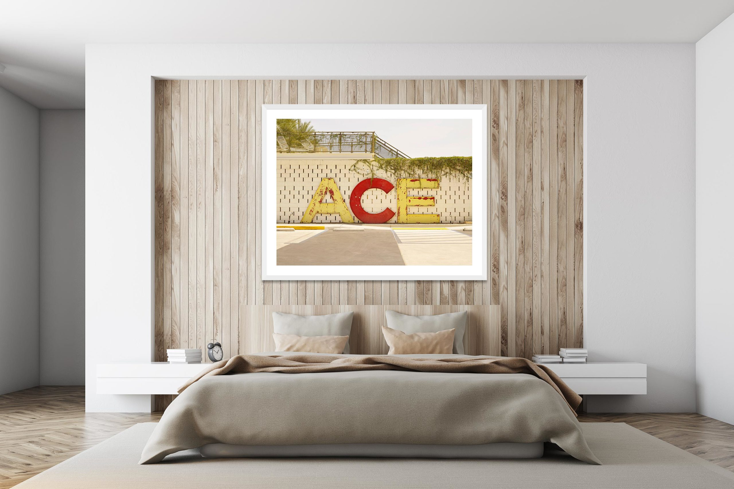 Ace Hotel - White Frame - I Heart Palm Springs Collection - Fine Art Photography by Toby Dixon