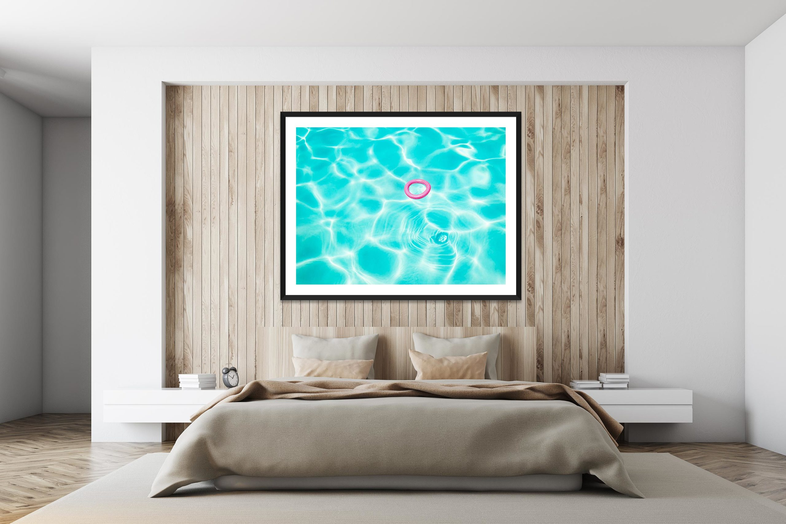 Pink In Blue - Black Frame - I Heart Palm Springs Collection - Fine Art Photography by Toby Dixon
