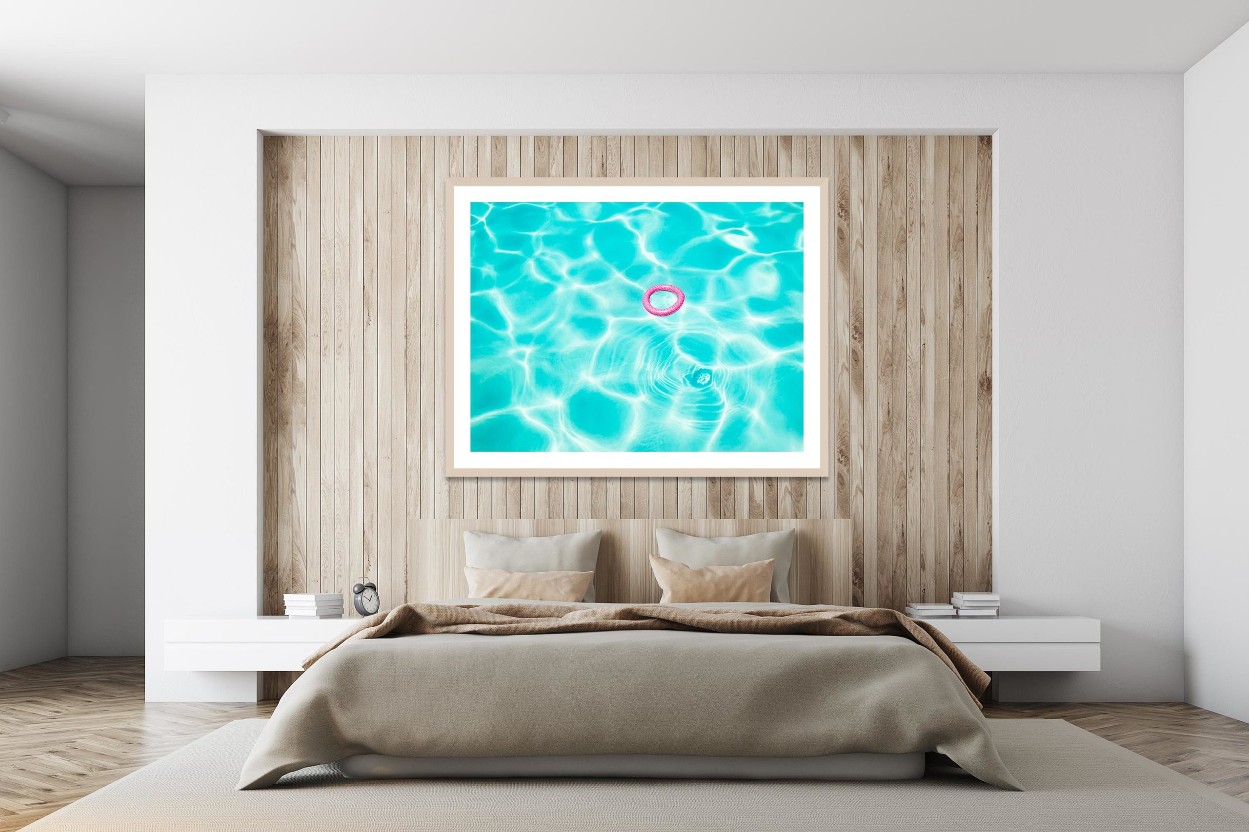 Pink In Blue - Timber Frame - I Heart Palm Springs Collection - Fine Art Photography by Toby Dixon