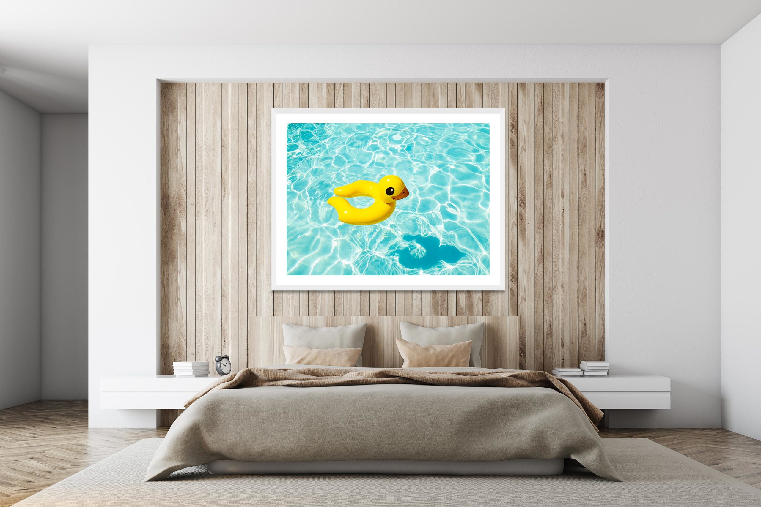 Duckie - White Frame - I Heart Palm Springs Collection - Fine Art Photography by Toby Dixon