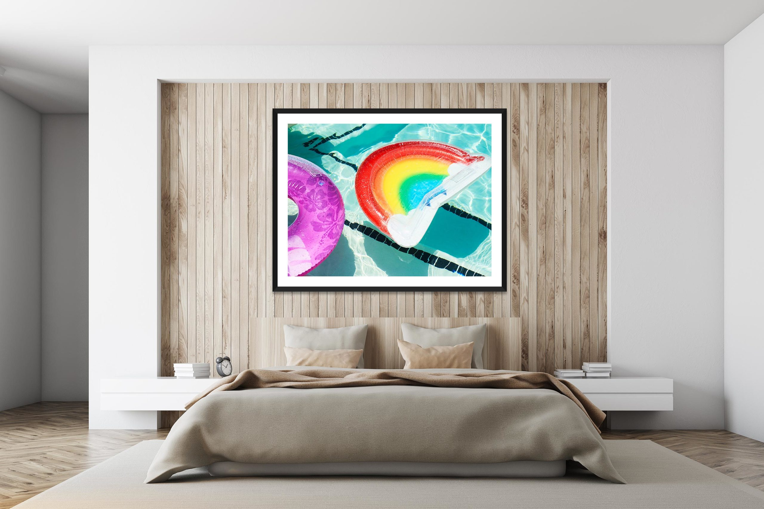 Poolside Daybed - Black Frame - I Heart Palm Springs Collection - Fine Art Photography by Toby Dixon