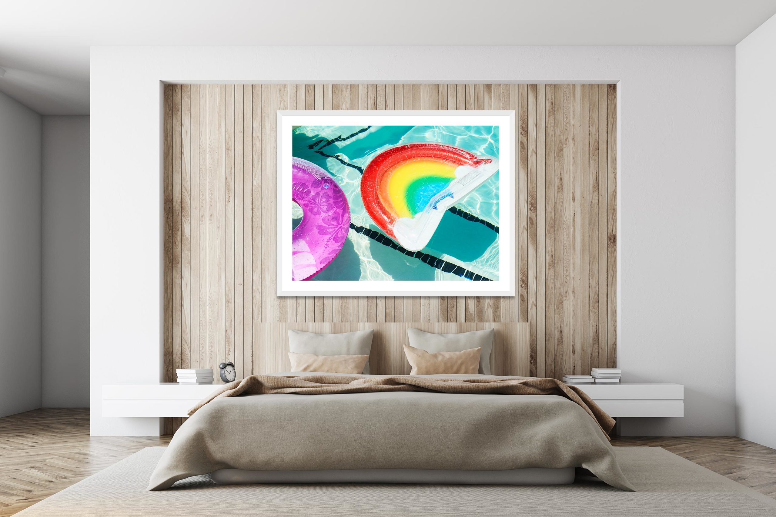Poolside Daybed - White Frame - I Heart Palm Springs Collection - Fine Art Photography by Toby Dixon