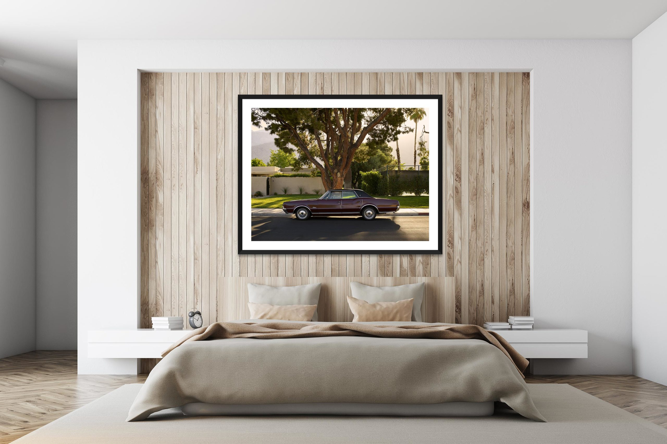 Olds Mobile - Black Frame - I Heart Palm Springs Collection - Fine Art Photography by Toby Dixon