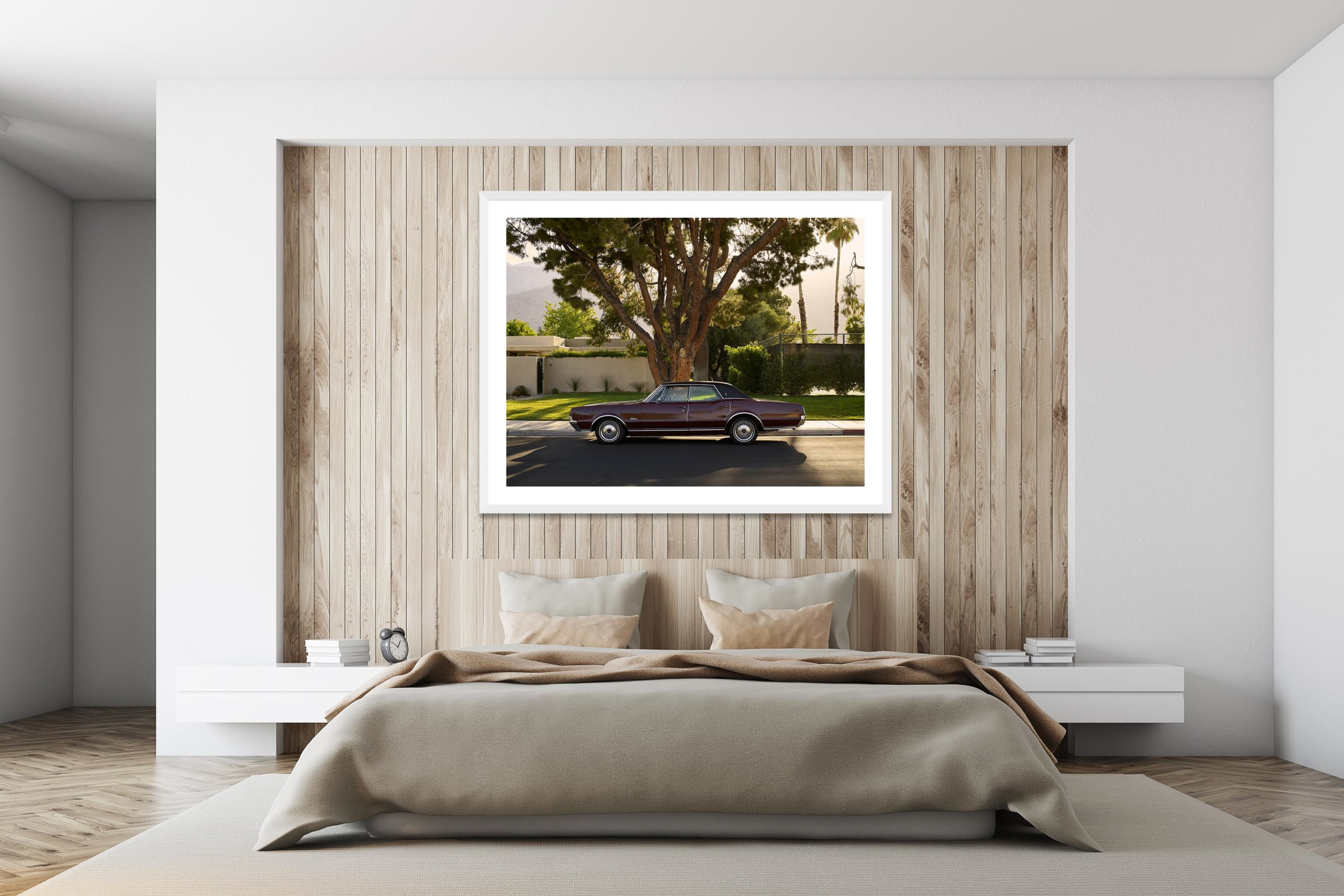 Olds Mobile - White Frame - I Heart Palm Springs Collection - Fine Art Photography by Toby Dixon
