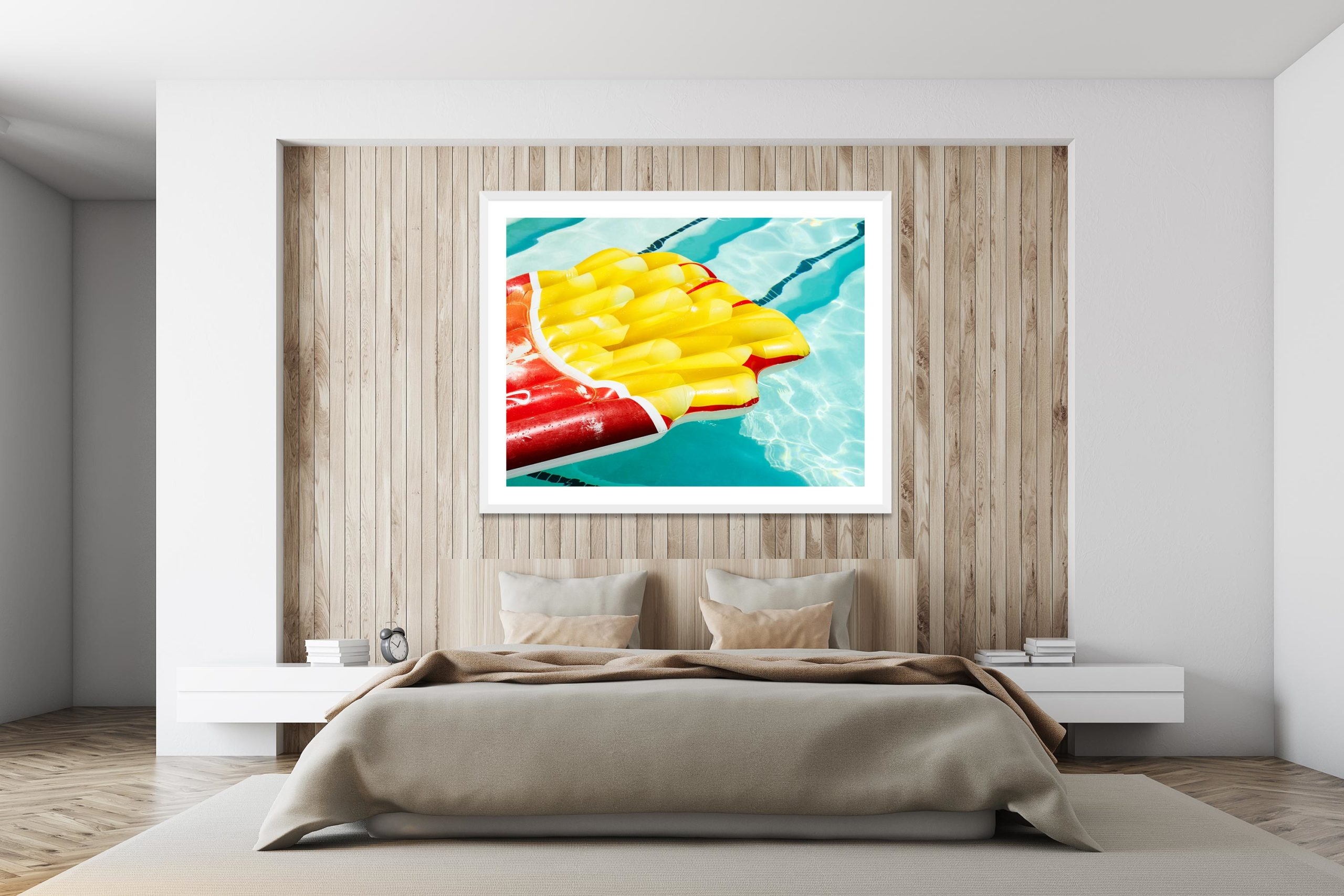 Fries - White Frame - I Heart Palm Springs Collection - Fine Art Photography by Toby Dixon