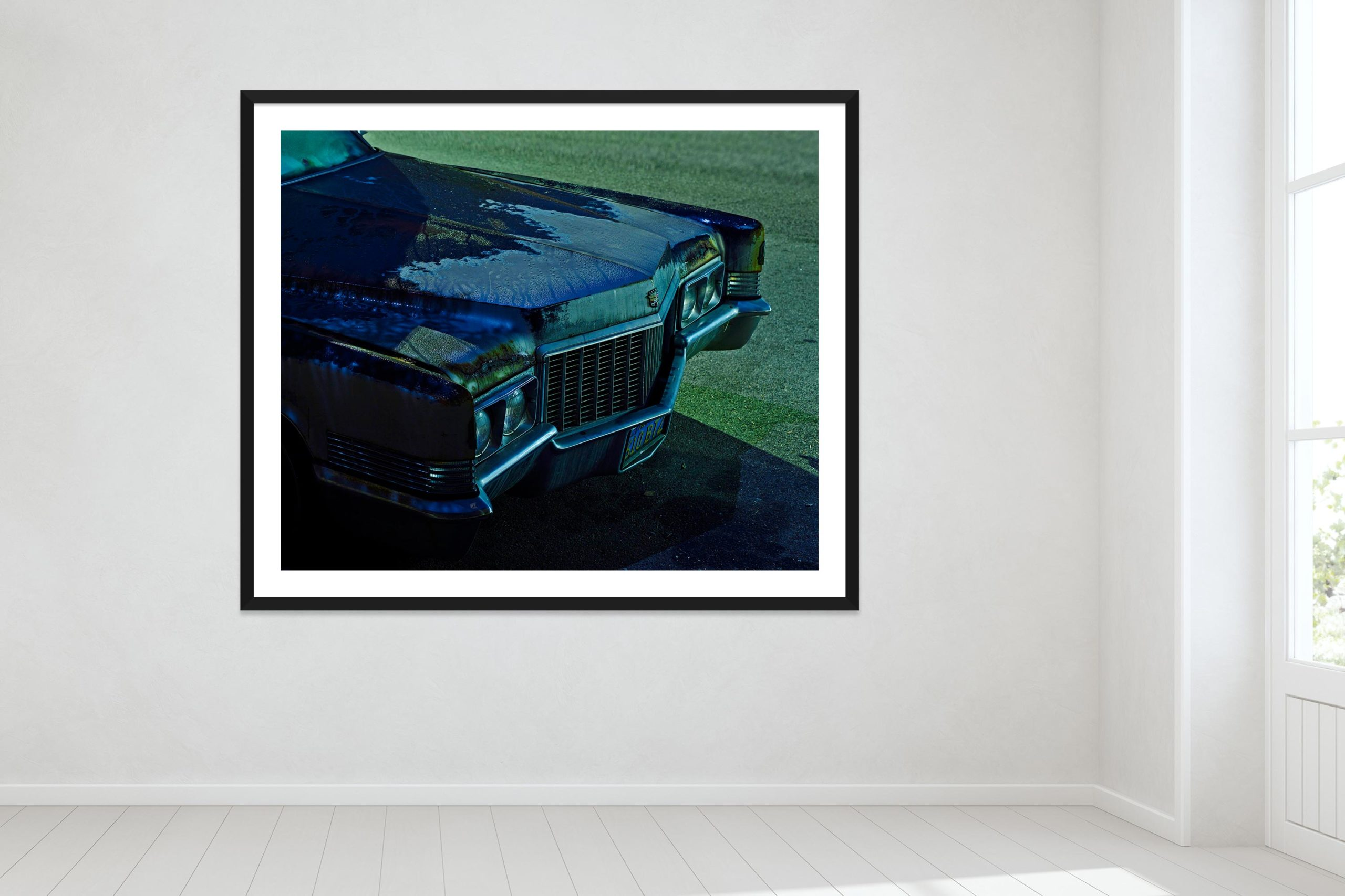 Dark Was The Night - Black Frame - Oh Mojave Collection - Fine Art Photography by Toby Dixon