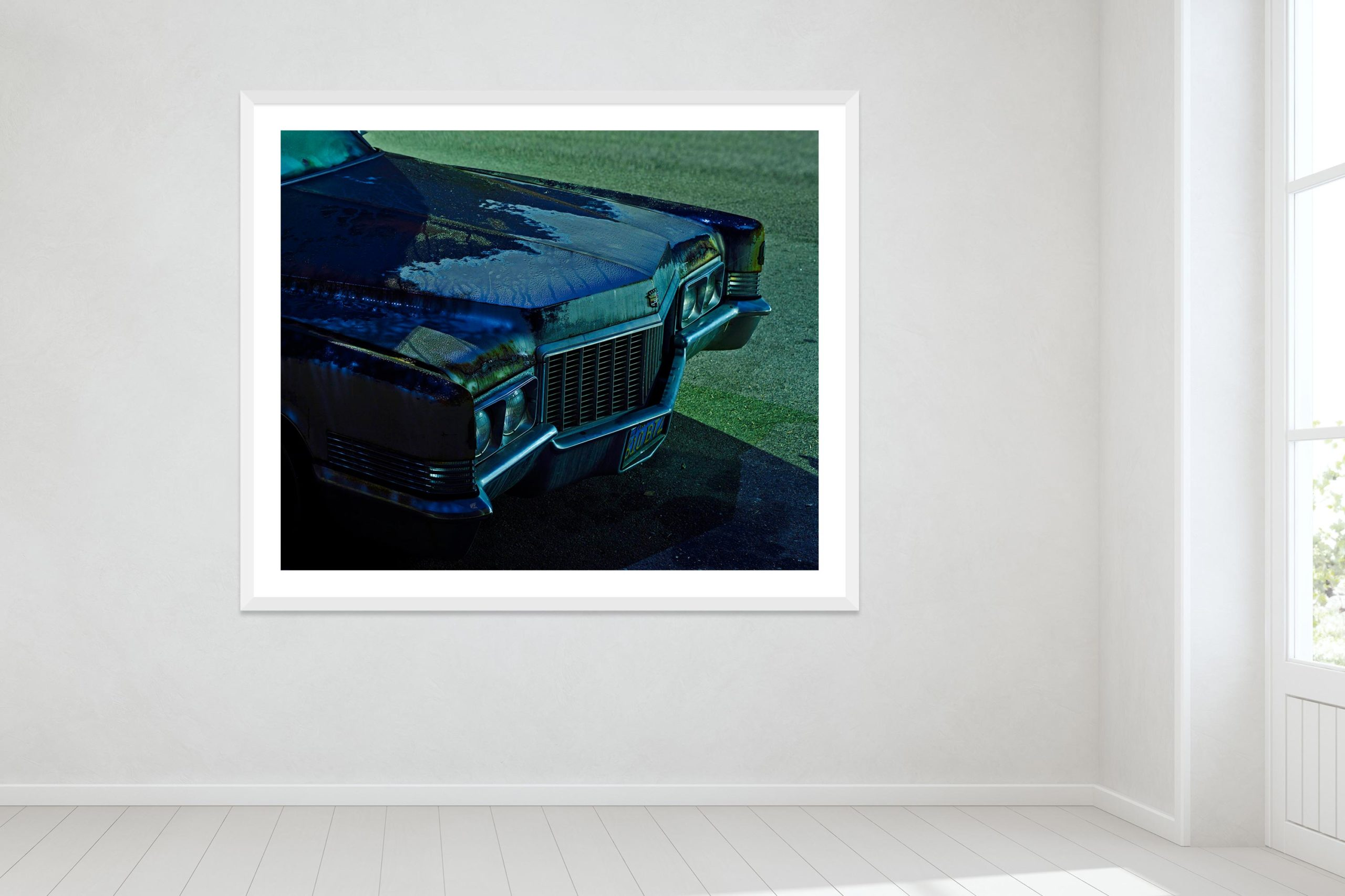 Dark Was The Night - White Frame - Oh Mojave Collection - Fine Art Photography by Toby Dixon