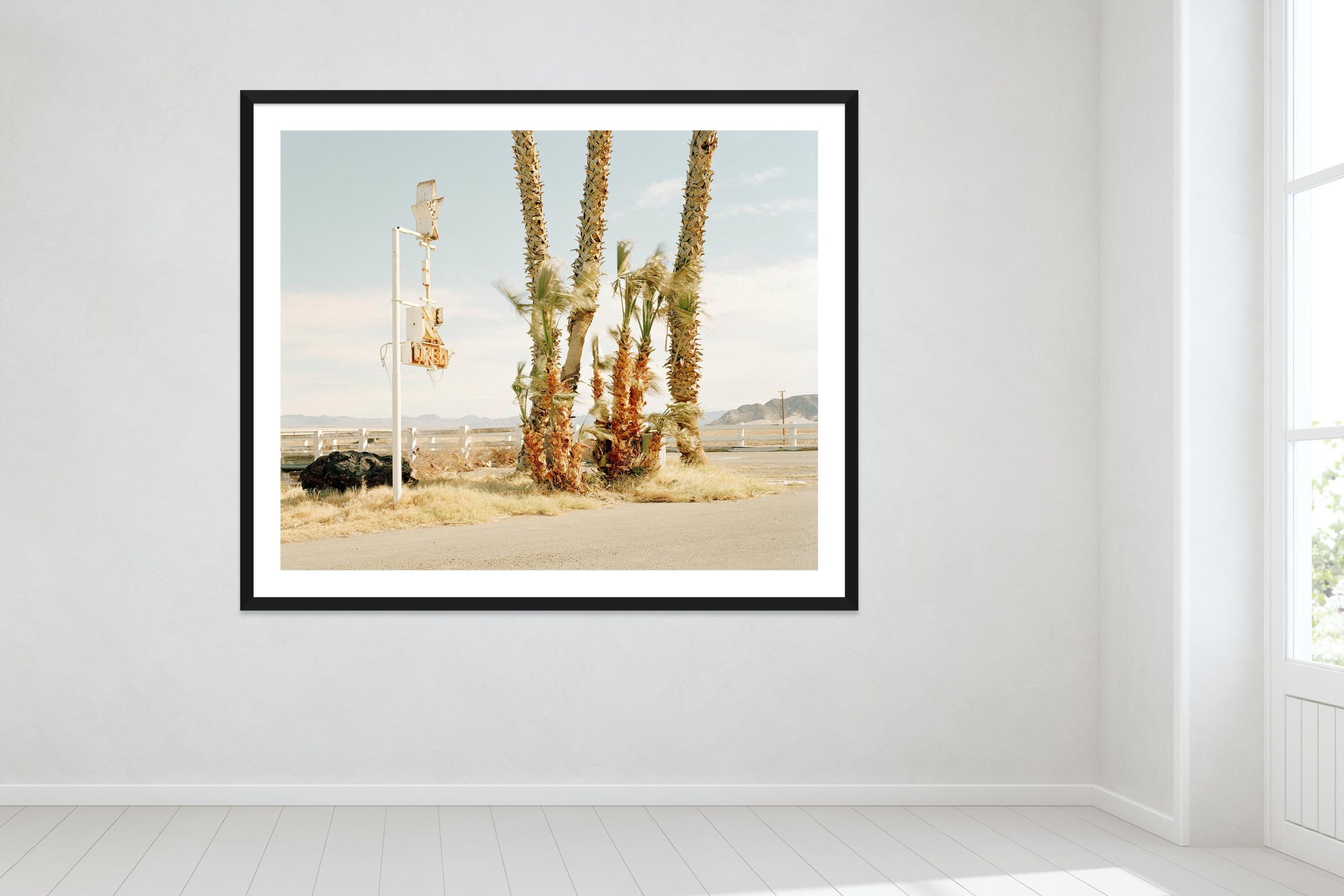 Nothing Out There - Black Frame - Oh Mojave Collection - Fine Art Photography by Toby Dixon