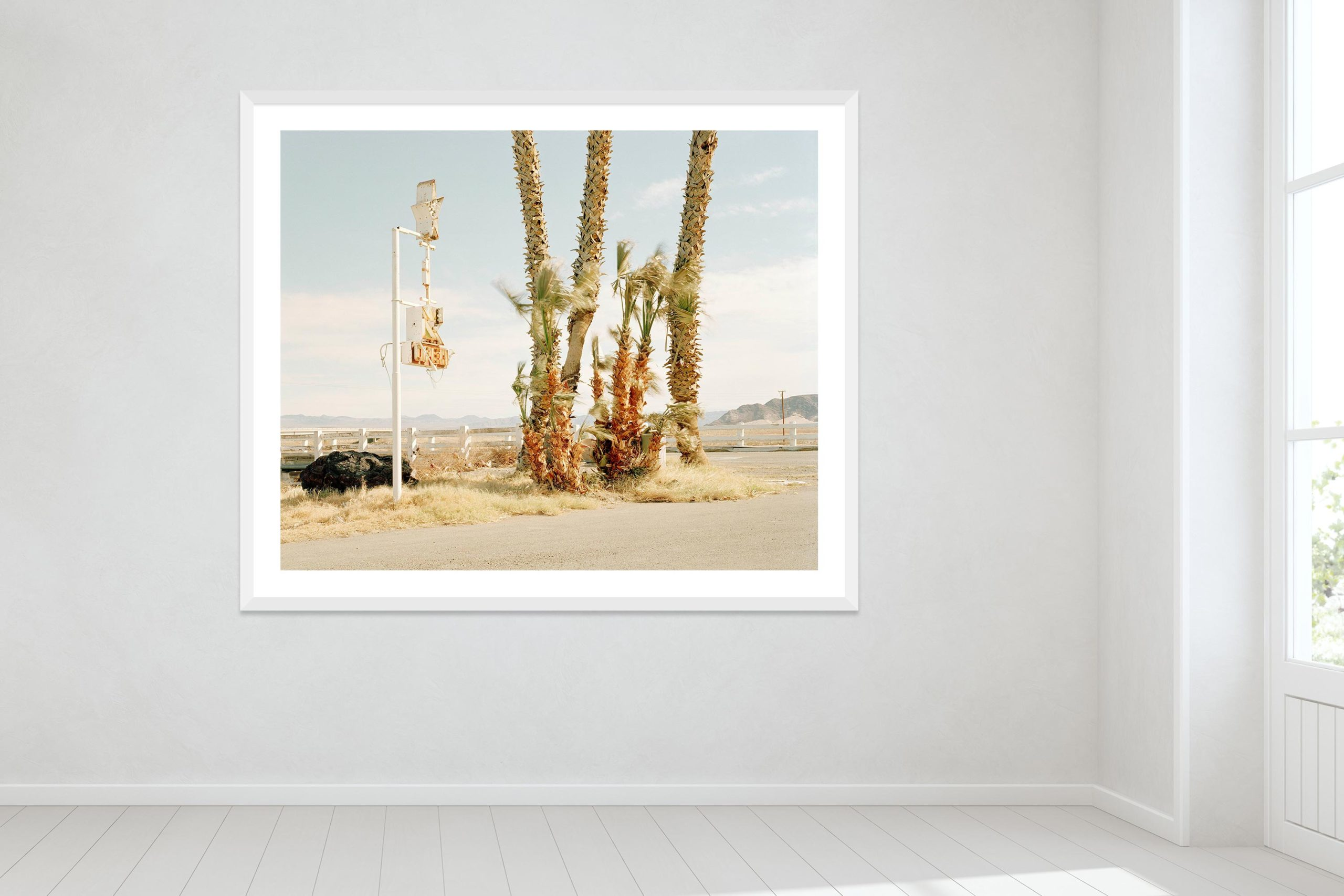 Nothing Out There - White Frame - Oh Mojave Collection - Fine Art Photography by Toby Dixon