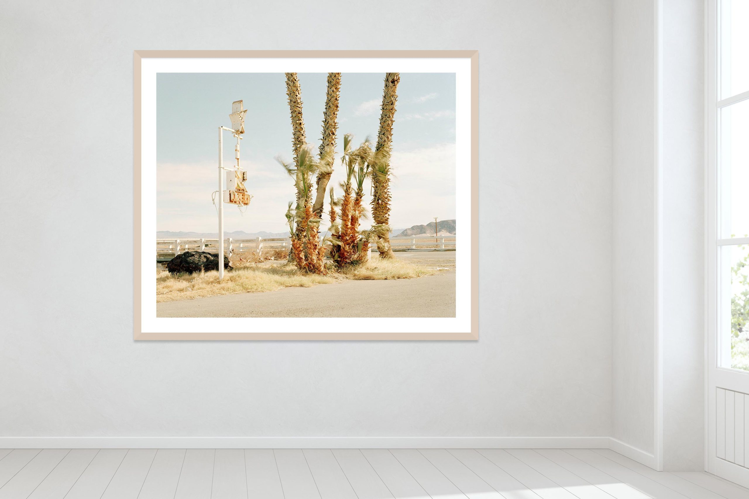 Nothing Out There - Timber Frame - Oh Mojave Collection - Fine Art Photography by Toby Dixon