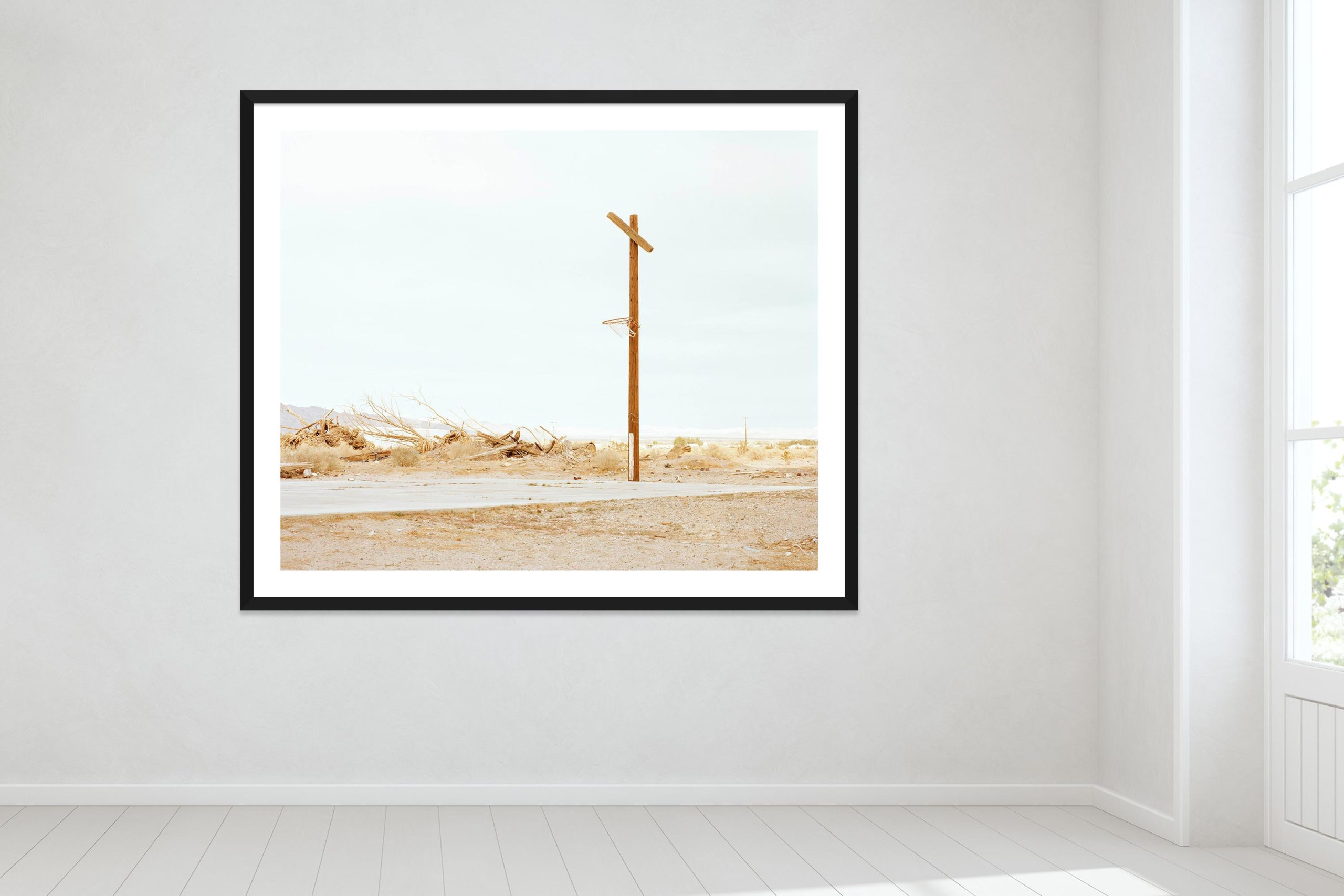 Hoop Dreams, Mojave Desert - Black Frame - Oh Mojave Collection - Fine Art Photography by Toby Dixon