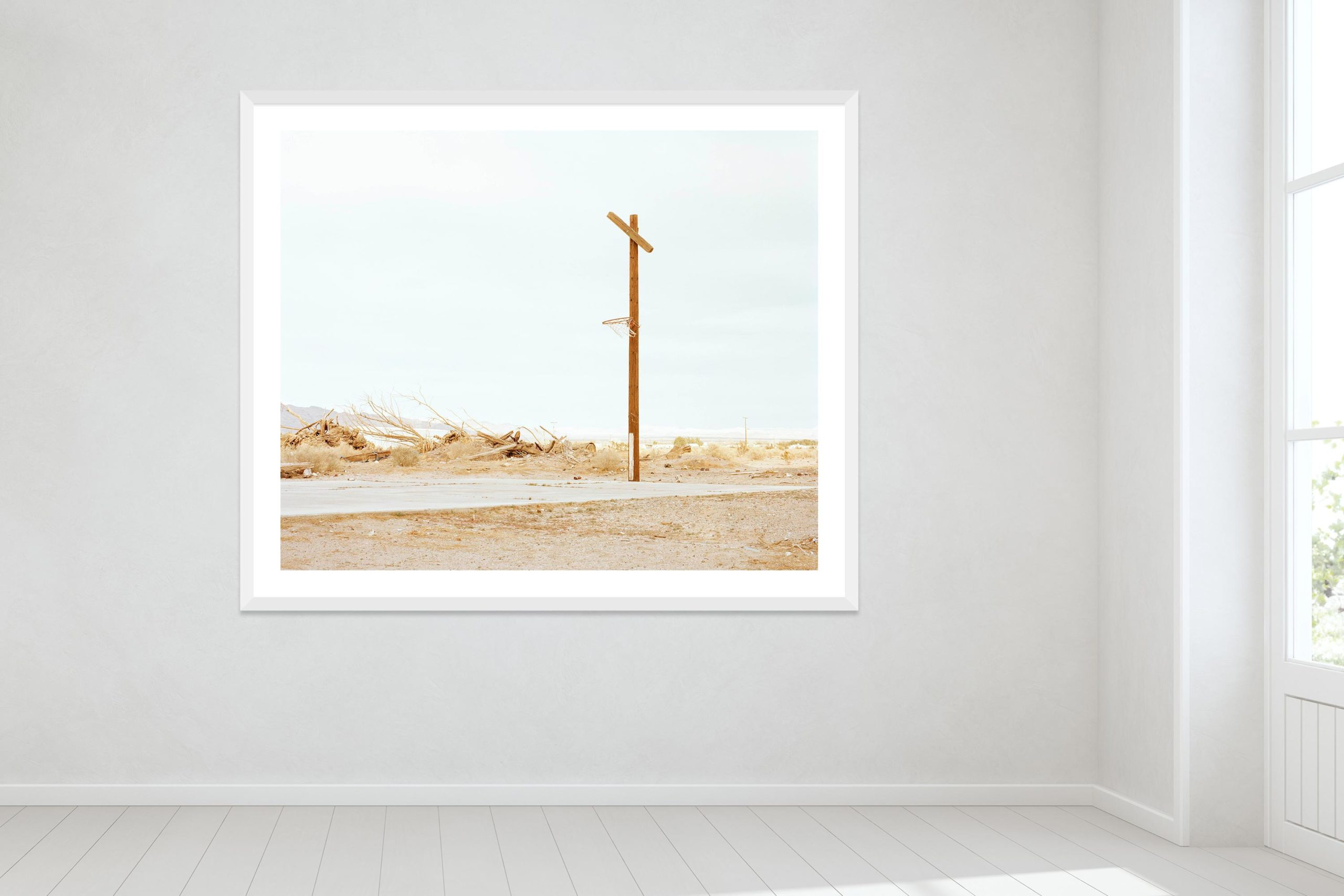 Hoop Dreams, Mojave Desert - White Frame - Oh Mojave Collection - Fine Art Photography by Toby Dixon