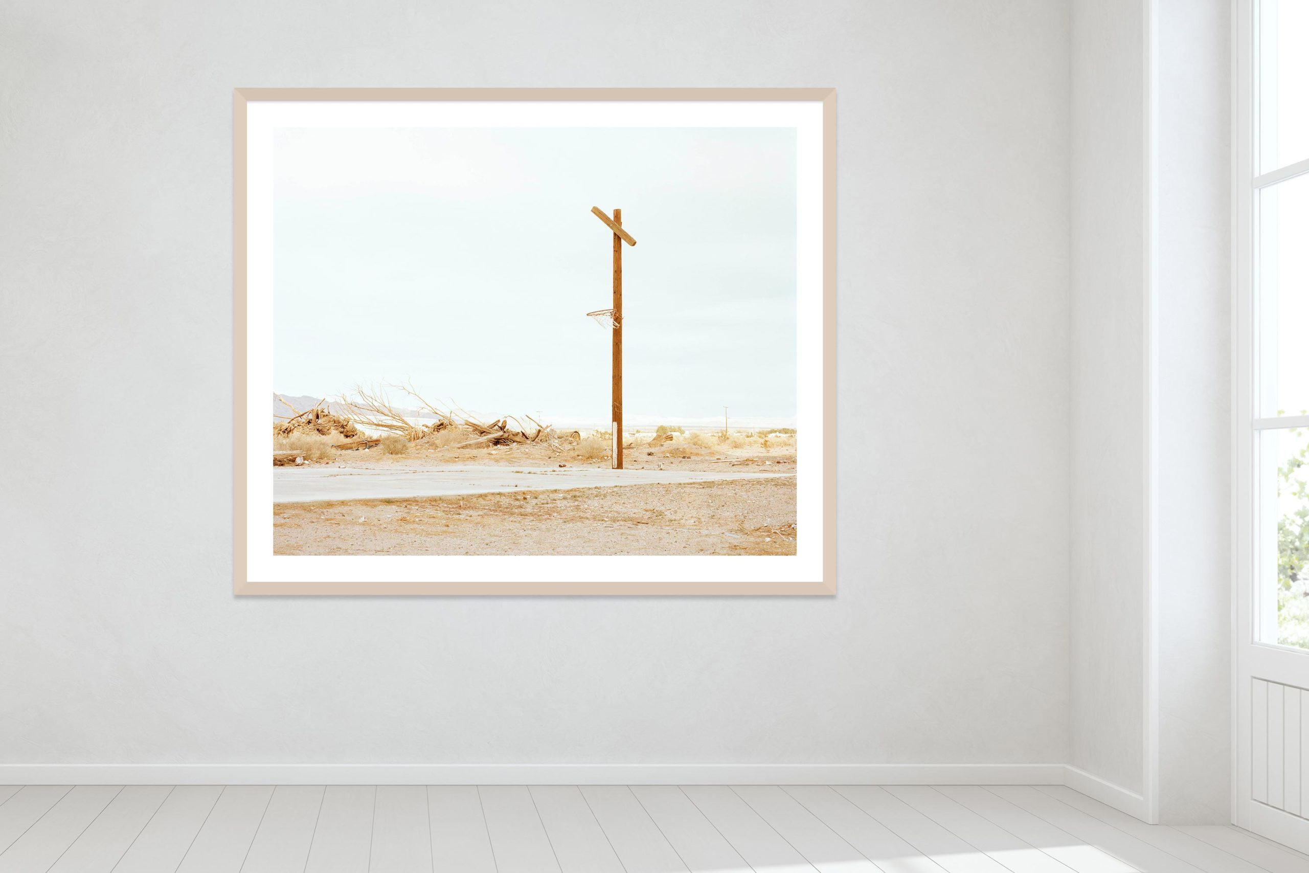 Hoop Dreams, Mojave Desert - Timber Frame - Oh Mojave Collection - Fine Art Photography by Toby Dixon