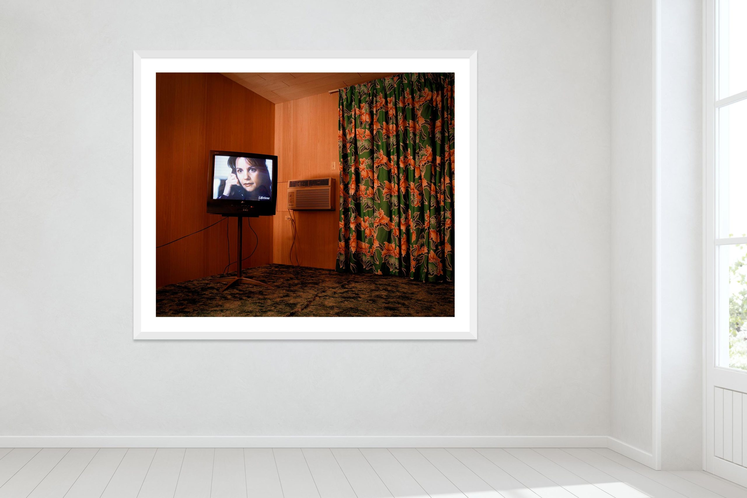 Vacancy - White Frame - Oh Mojave Collection - Fine Art Photography by Toby Dixon
