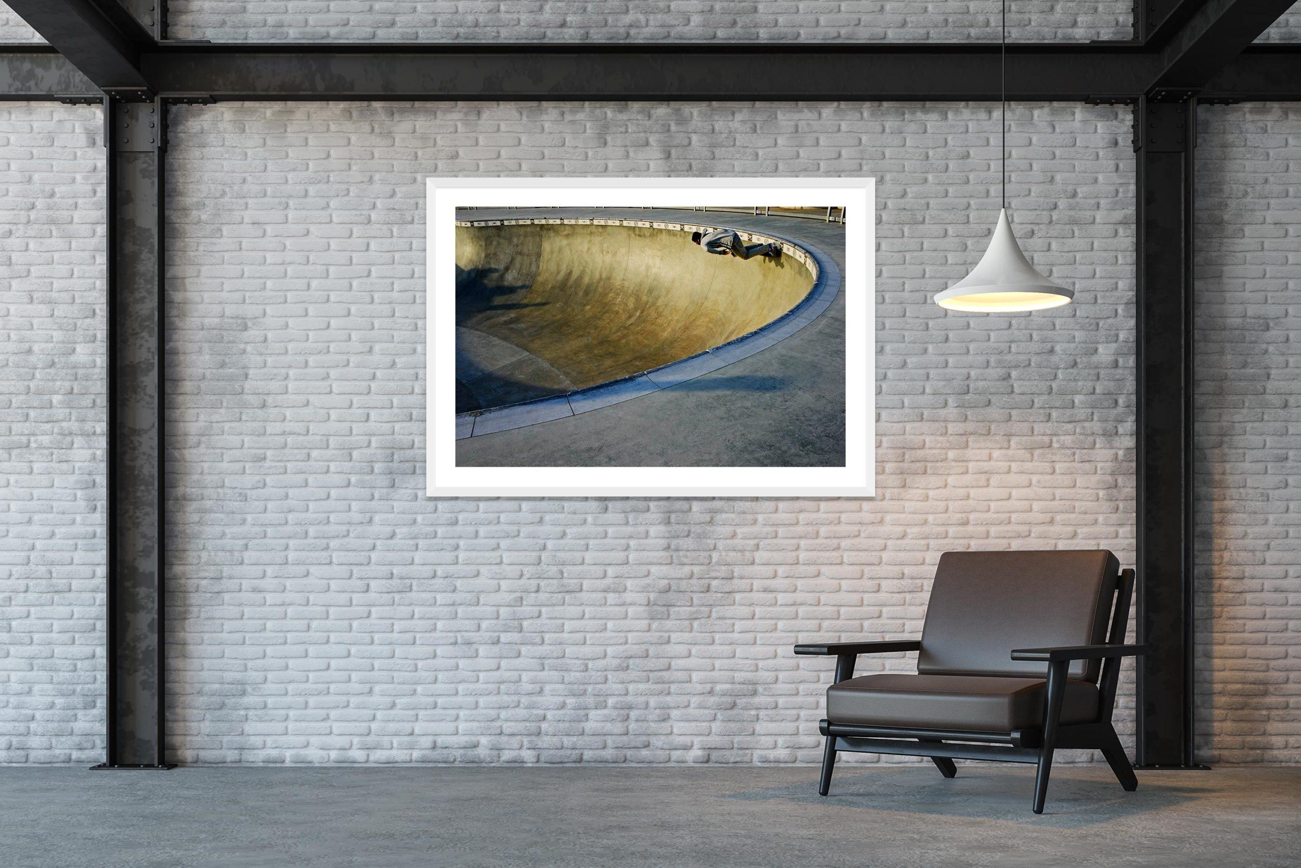 Blue Dream - White Frame - Skate Park, Venice Beach Collection - Fine Art Photography by Toby Dixon