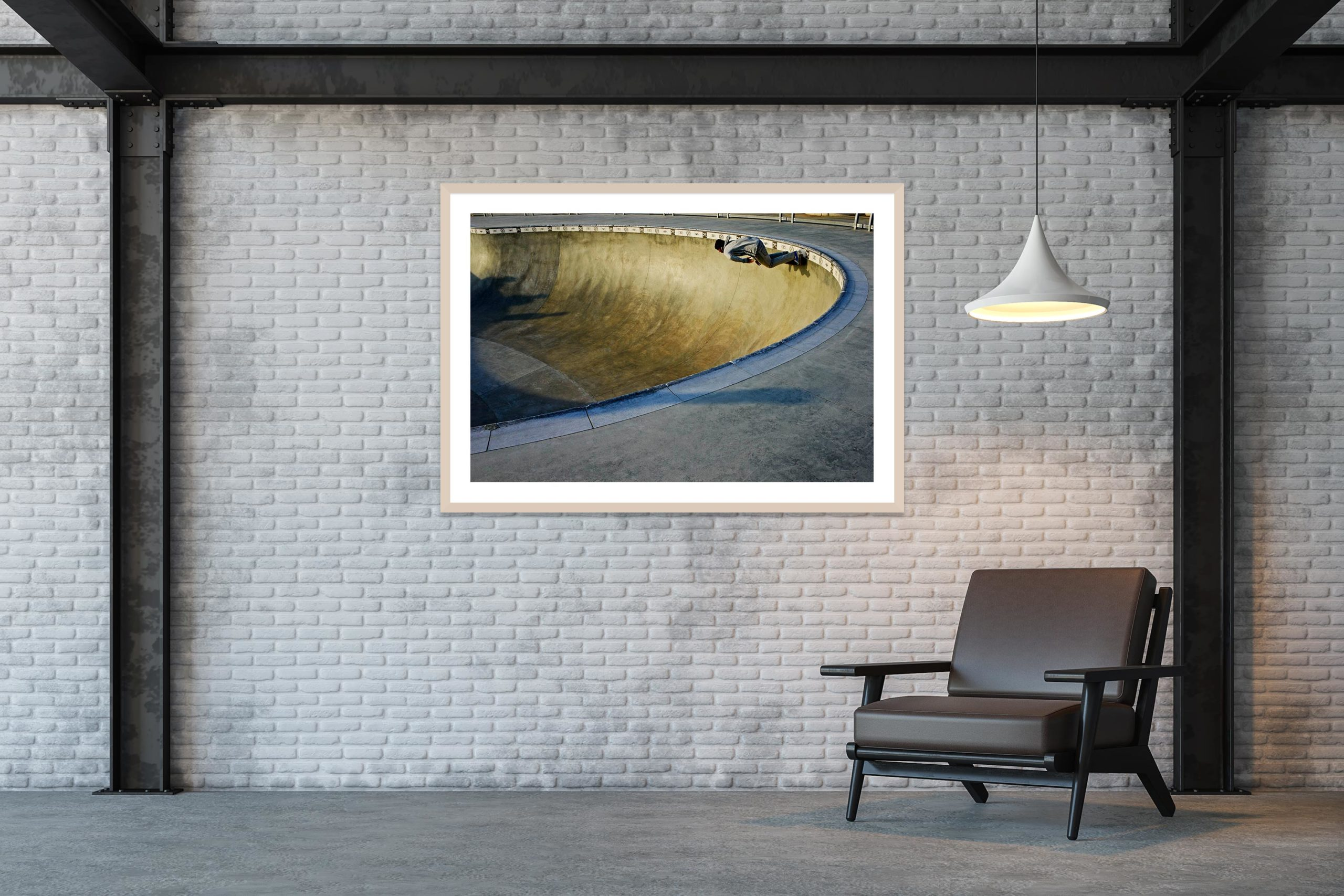 Blue Dream - Timber Frame - Skate Park, Venice Beach Collection - Fine Art Photography by Toby Dixon