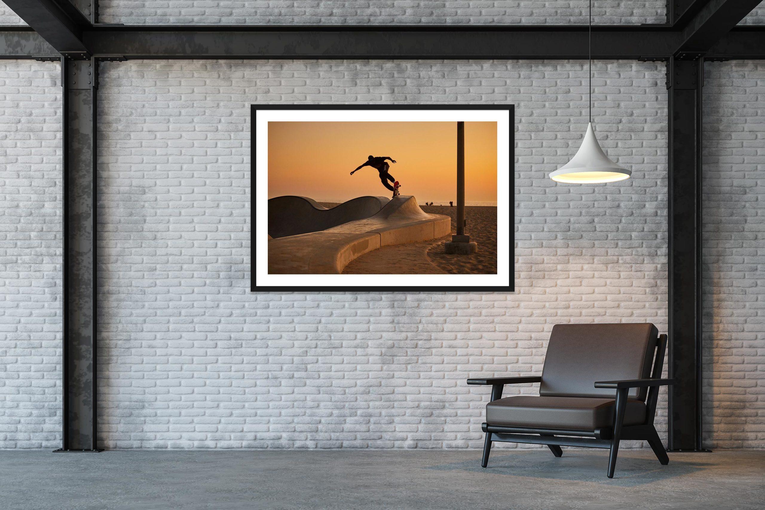 Under Last Light - Black Frame - Skate Park, Venice Beach Collection - Fine Art Photography by Toby Dixon