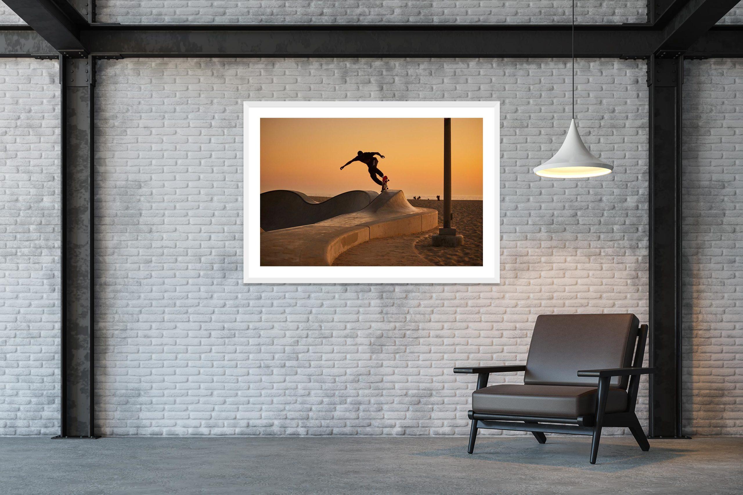Under Last Light - White Frame - Skate Park, Venice Beach Collection - Fine Art Photography by Toby Dixon