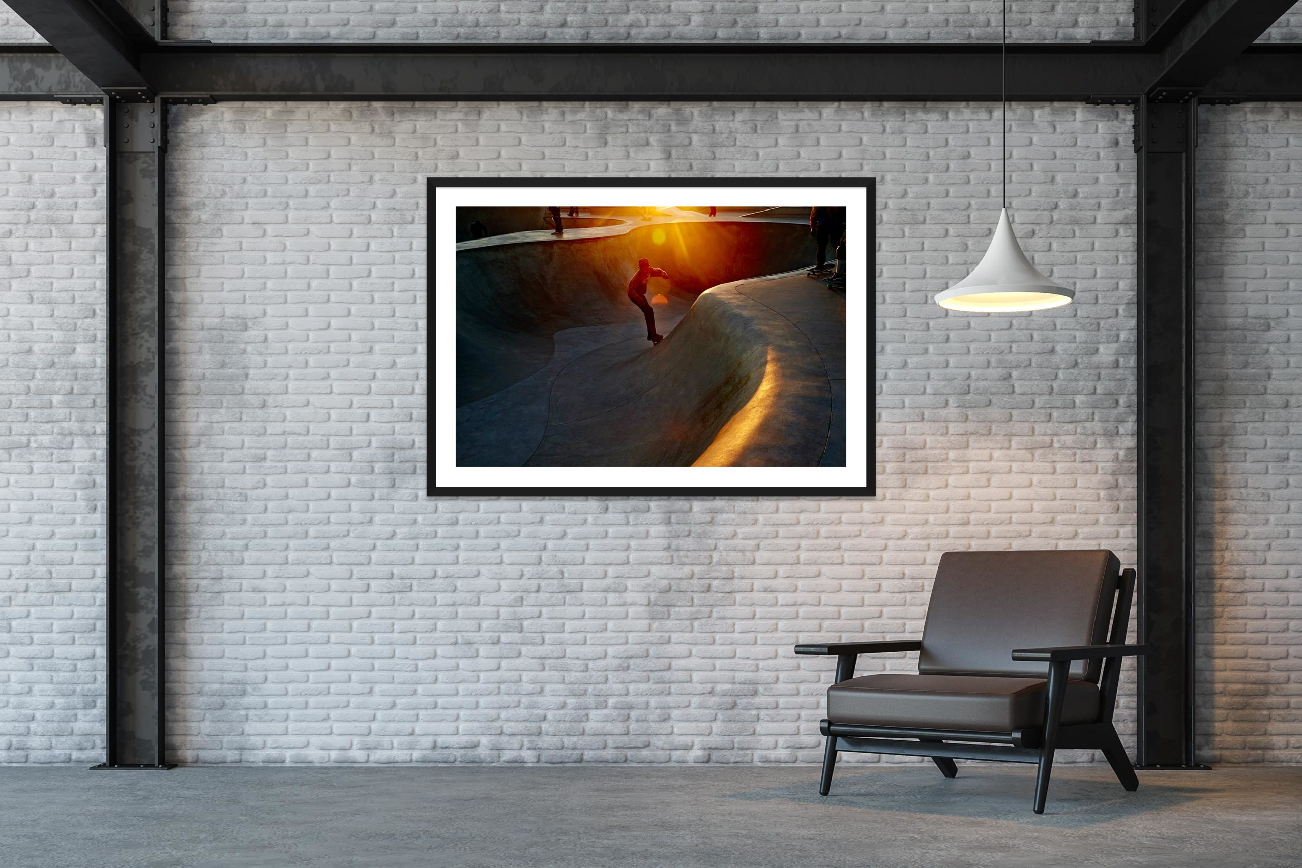 Fast Flares - Black Frame - Skate Park, Venice Beach Collection - Fine Art Photography by Toby Dixon