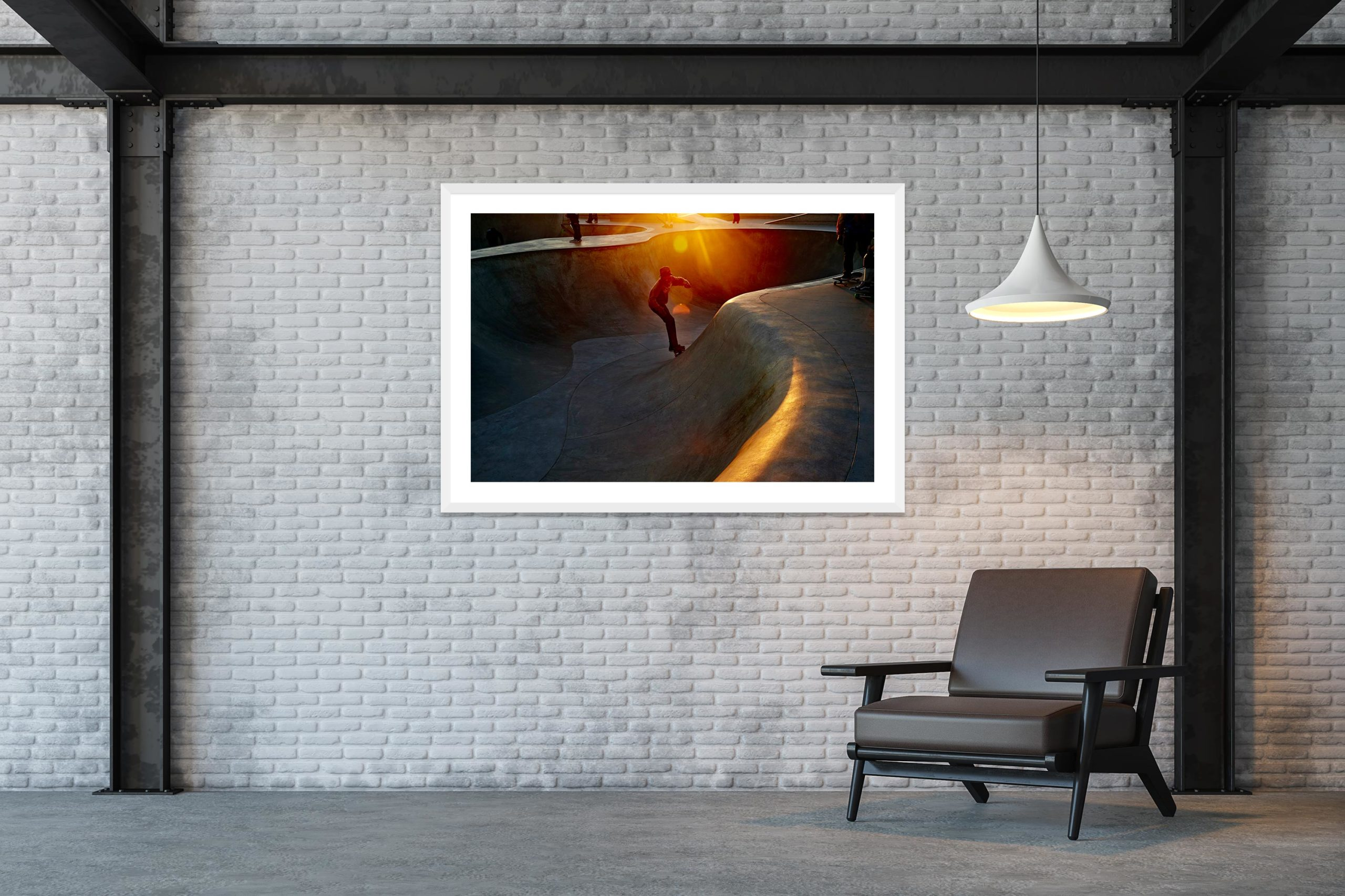 Fast Flares - White Frame - Skate Park, Venice Beach Collection - Fine Art Photography by Toby Dixon