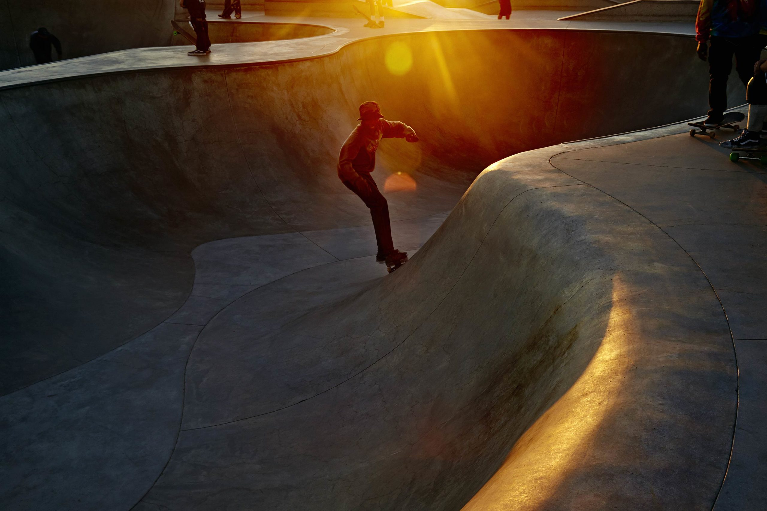 Fast Flares - Skate Park, Venice Beach Collection - Fine Art Photography by Toby Dixon