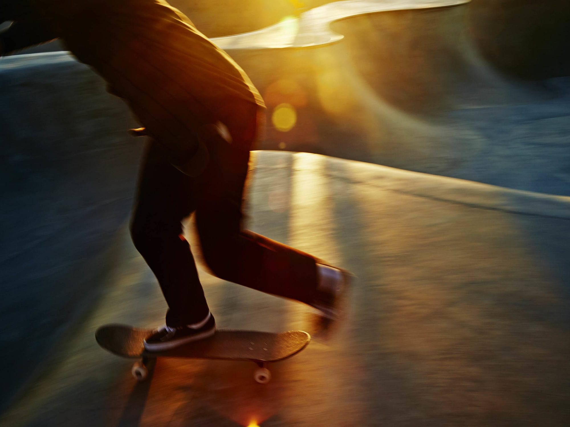 Golden Blur - Skate Park, Venice Beach Collection - Fine Art Photography by Toby Dixon