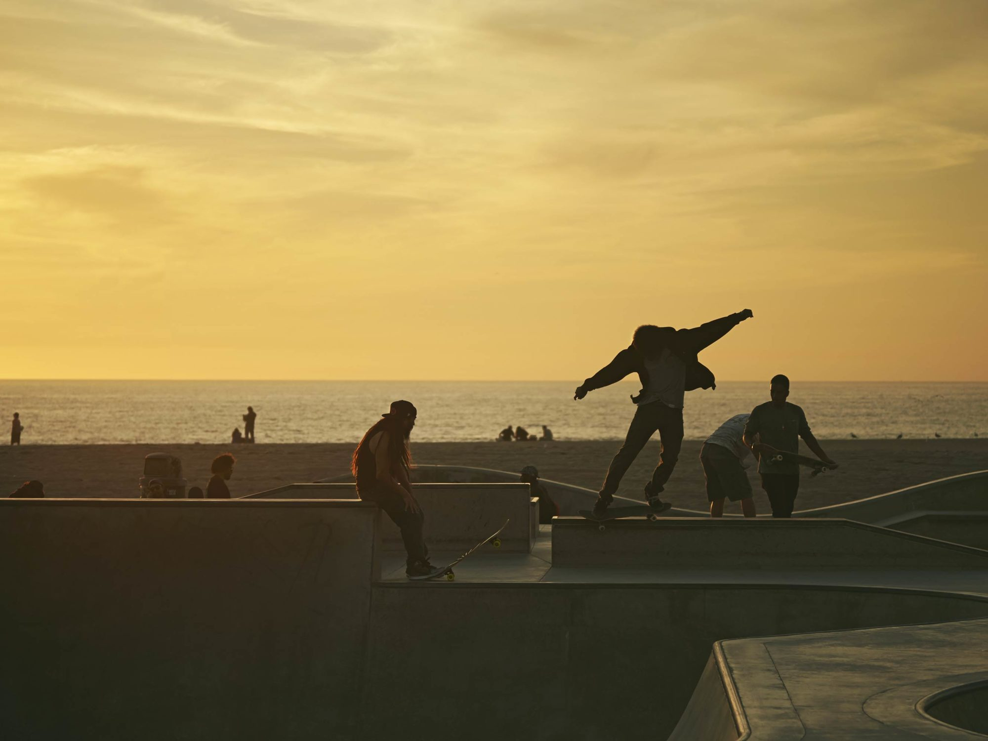 Summer Haze - Skate Park, Venice Beach Collection - Fine Art Photography by Toby Dixon