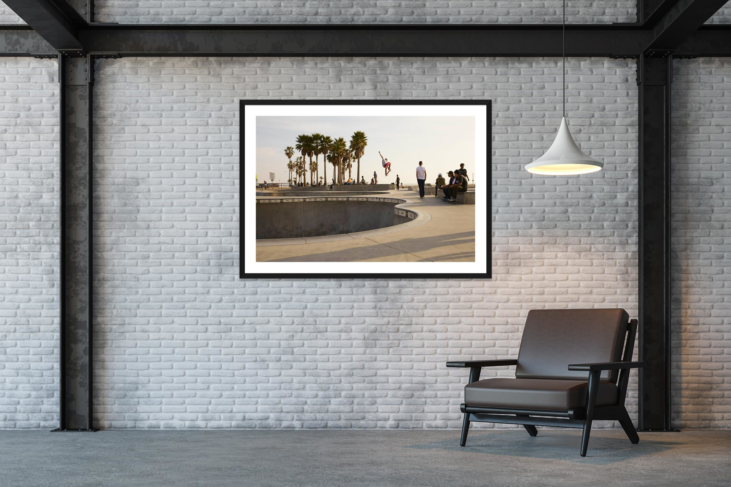 Air - Black Frame - Skate Park, Venice Beach Collection - Fine Art Photography by Toby Dixon
