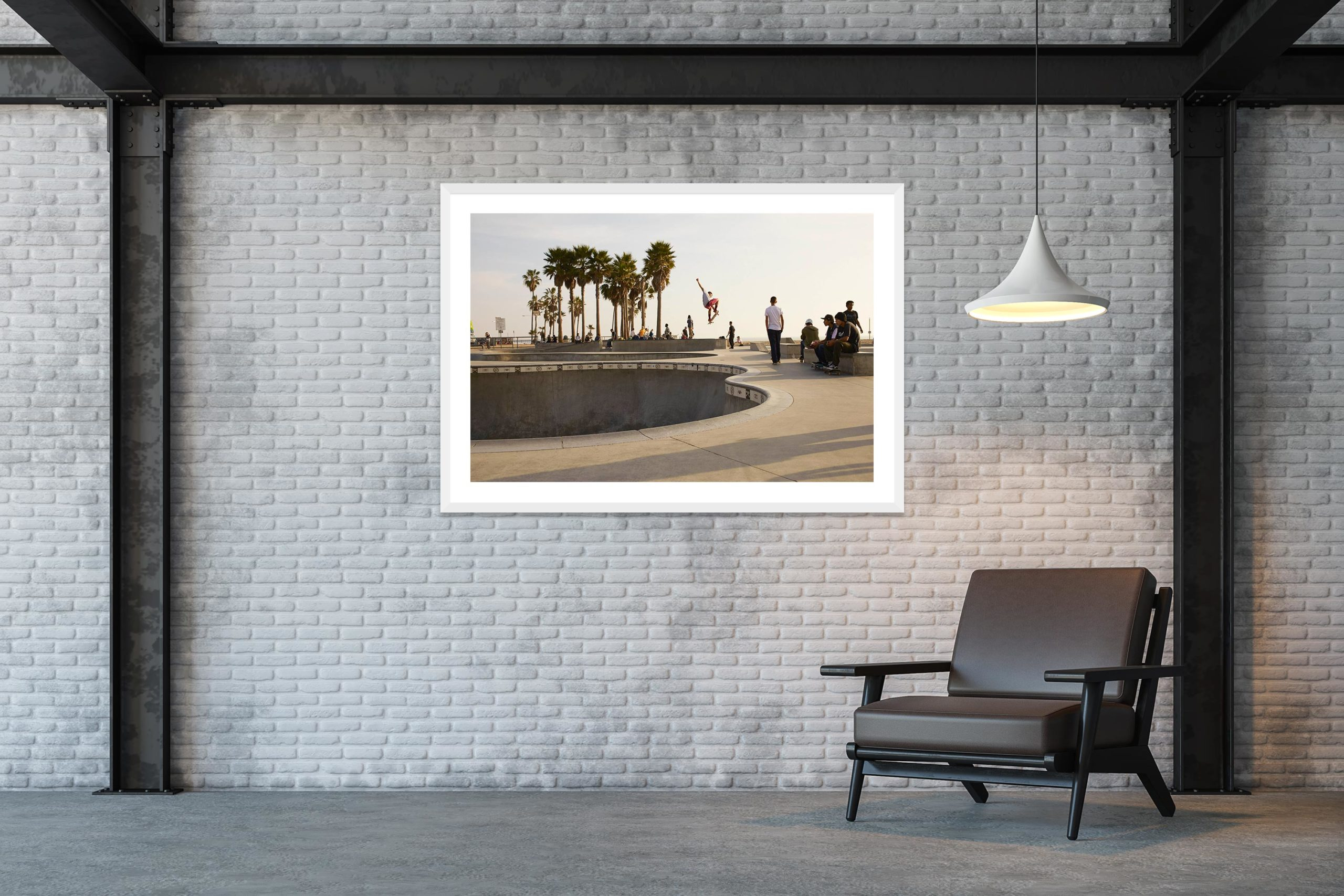 Air - White Frame - Skate Park, Venice Beach Collection - Fine Art Photography by Toby Dixon