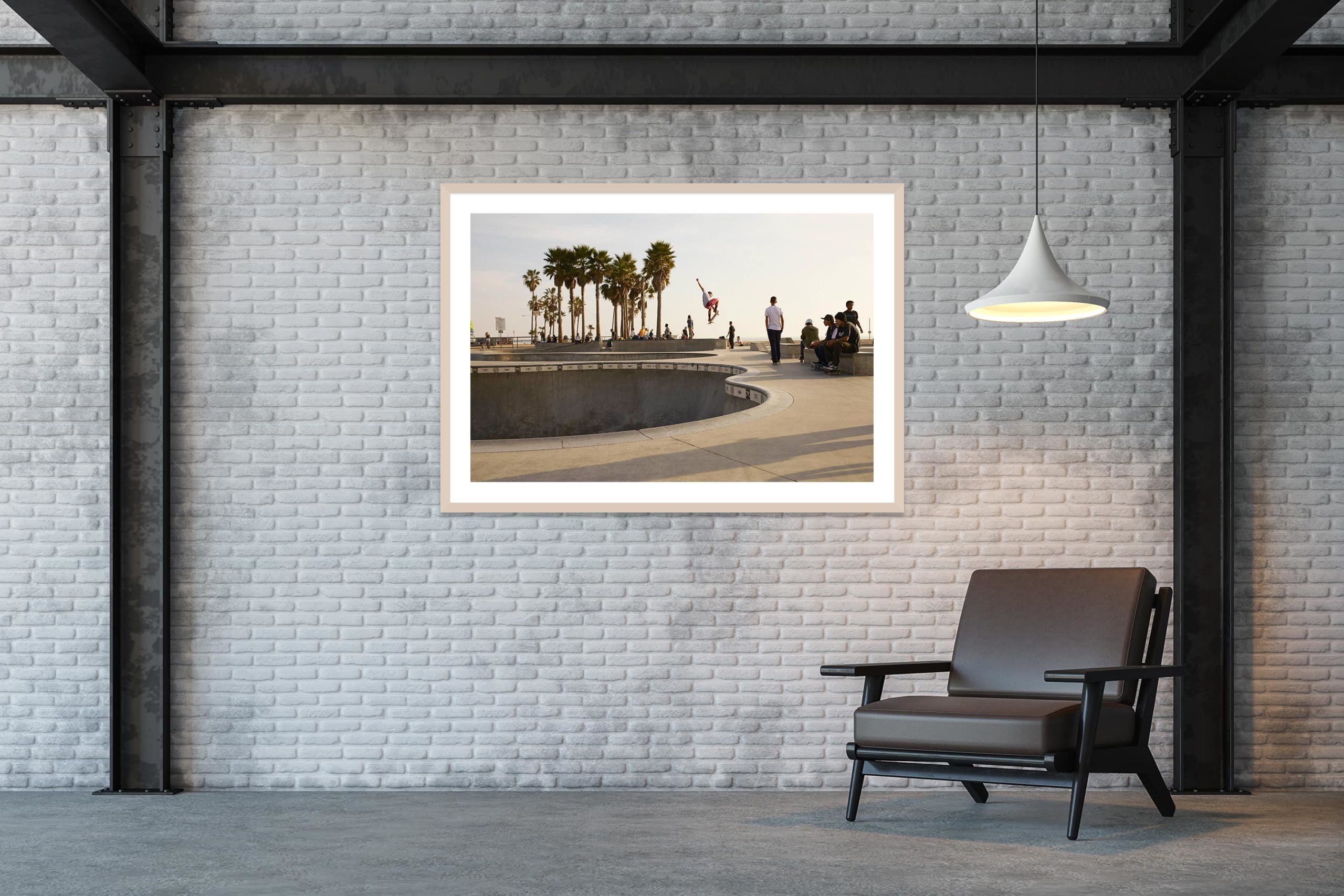 Air - Timber Frame - Skate Park, Venice Beach Collection - Fine Art Photography by Toby Dixon