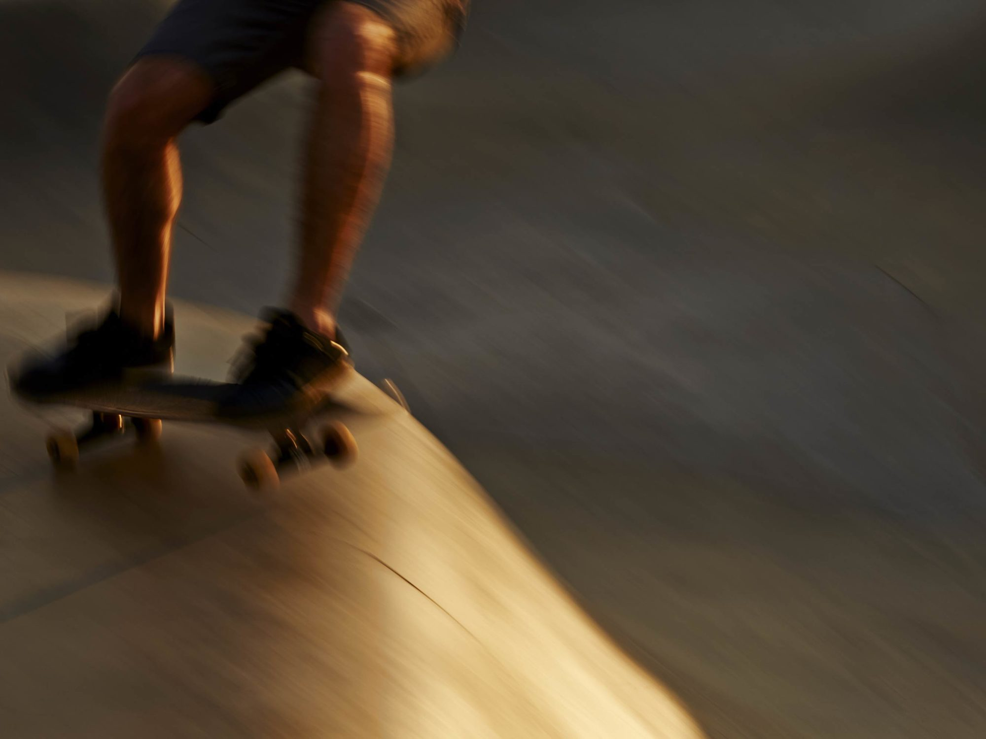 Golden Blur 2 - Skate Park, Venice Beach Collection - Fine Art Photography by Toby Dixon