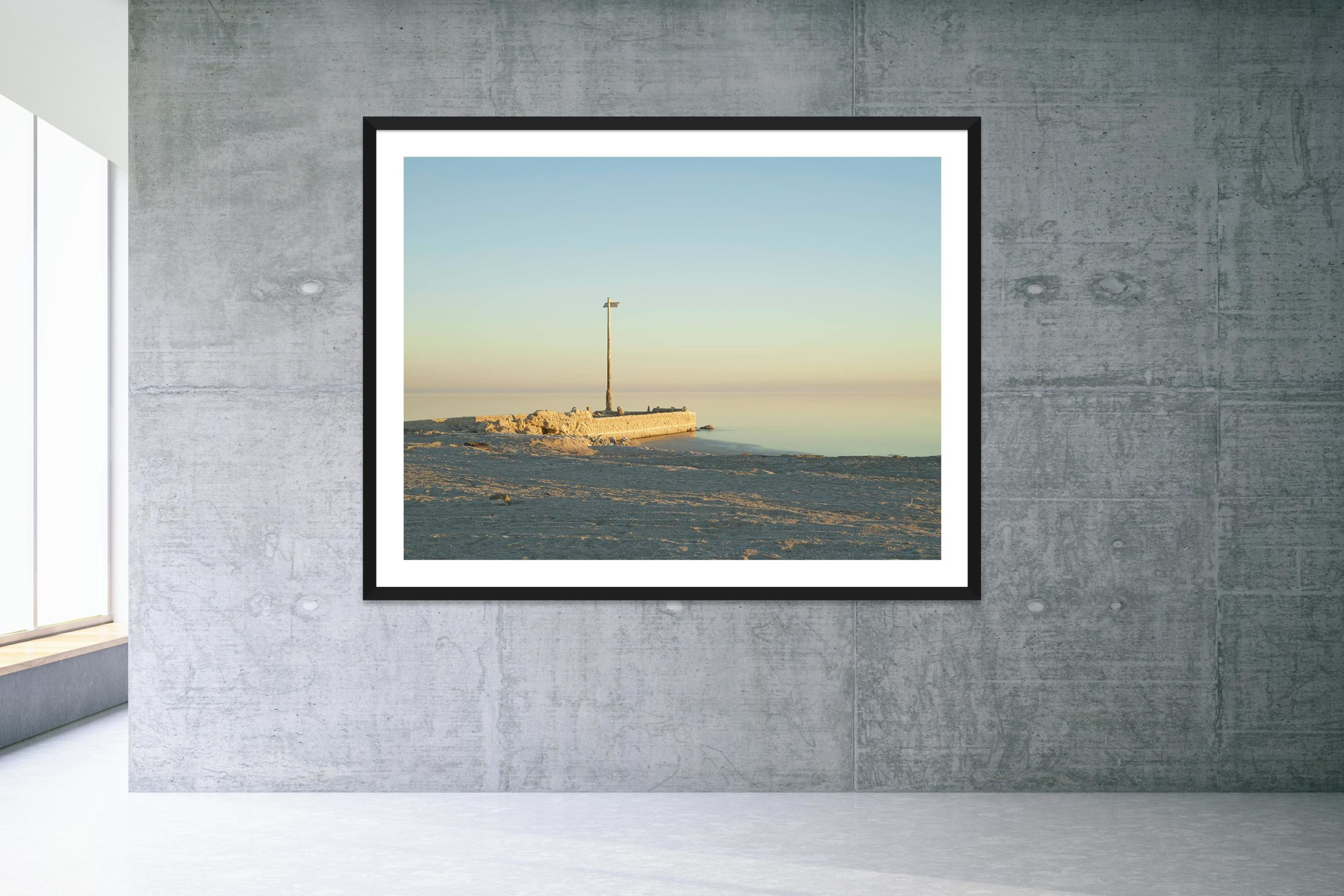 Talking Dust Bowl - Black Frame - Welcome To Bombay Beach Collection - Fine Art Photography by Toby Dixon
