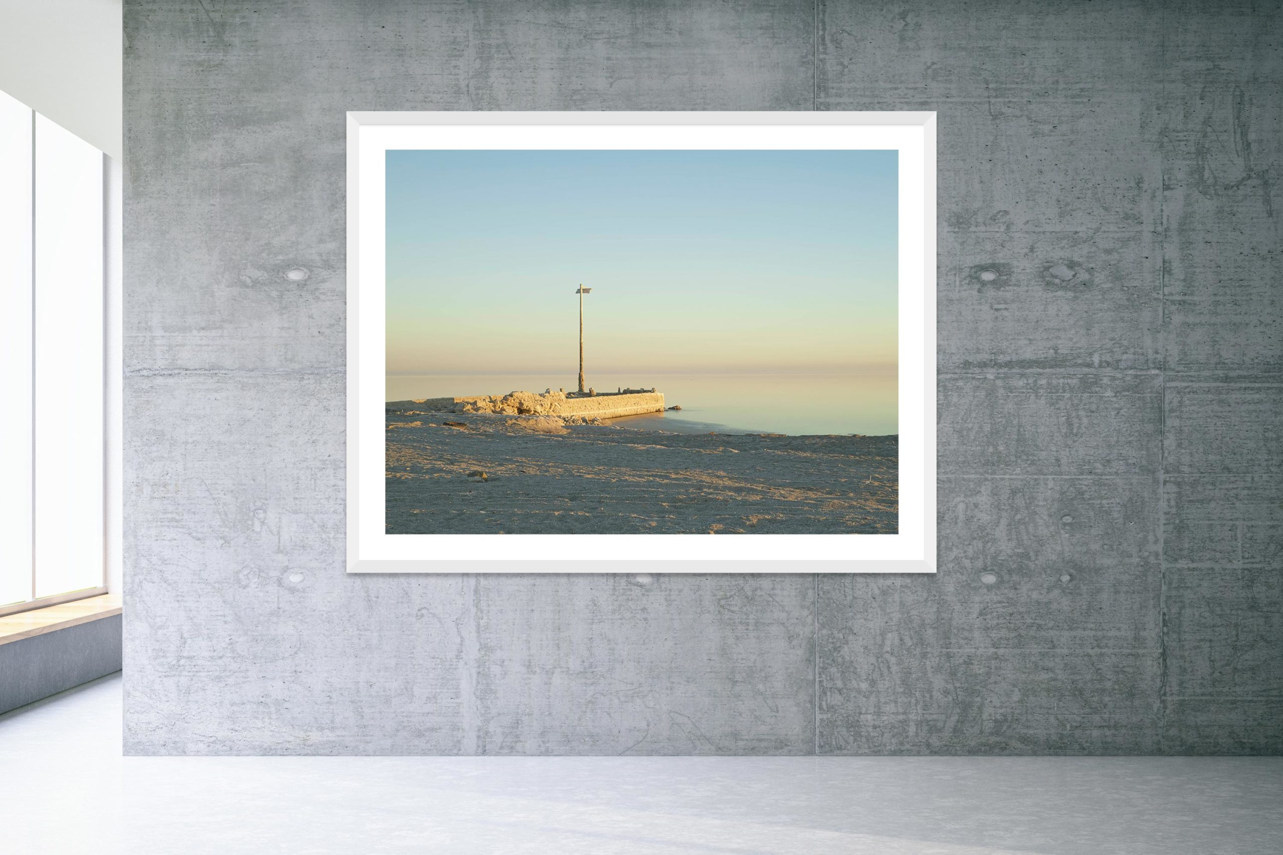 Talking Dust Bowl - White Frame - Welcome To Bombay Beach Collection - Fine Art Photography by Toby Dixon