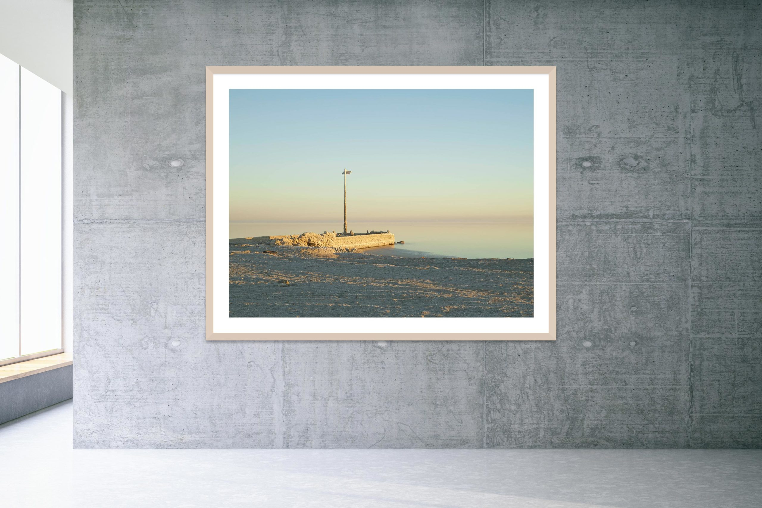 Talking Dust Bowl - Timber Frame - Welcome To Bombay Beach Collection - Fine Art Photography by Toby Dixon