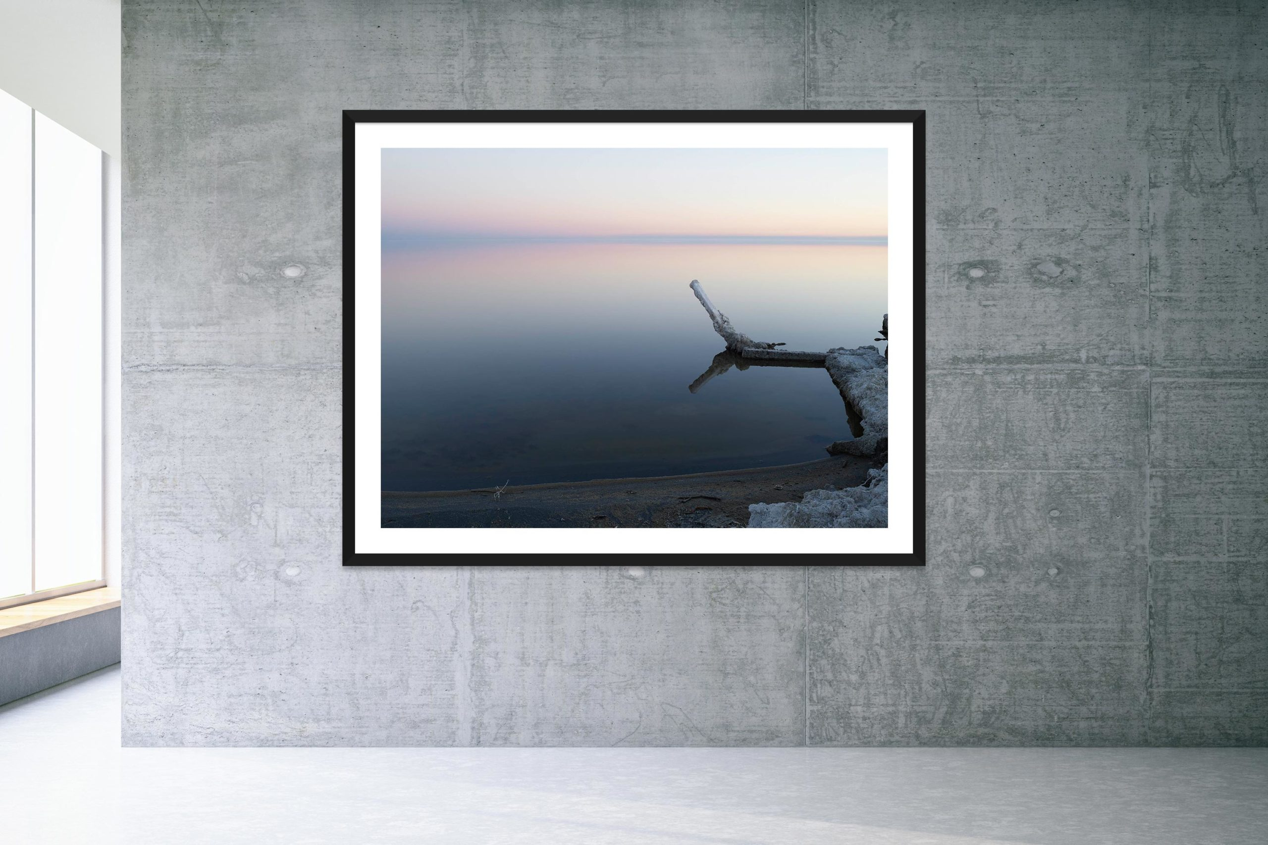 Silver Lining - Black Frame - Welcome To Bombay Beach Collection - Fine Art Photography by Toby Dixon