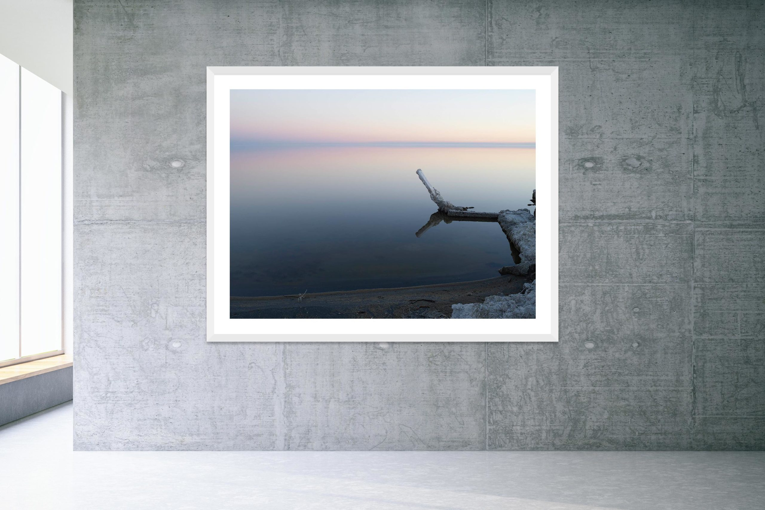 Silver Lining - White Frame - Welcome To Bombay Beach Collection - Fine Art Photography by Toby Dixon