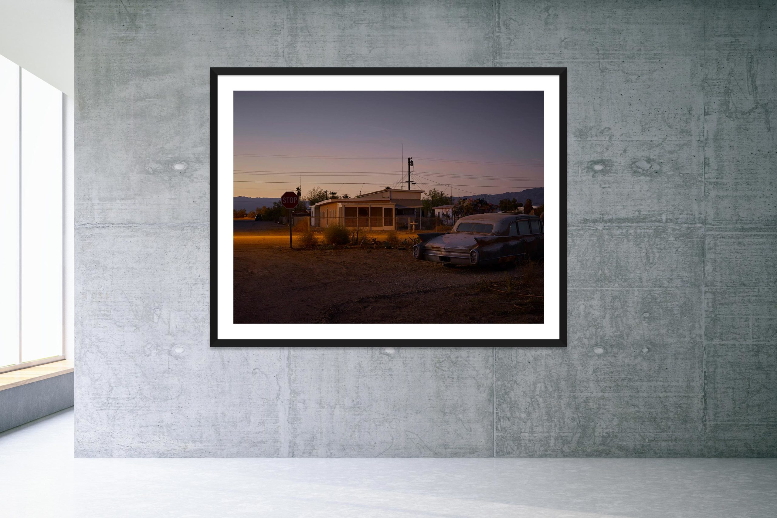 Some Velvet Morning - Black Frame - Welcome To Bombay Beach Collection - Fine Art Photography by Toby Dixon