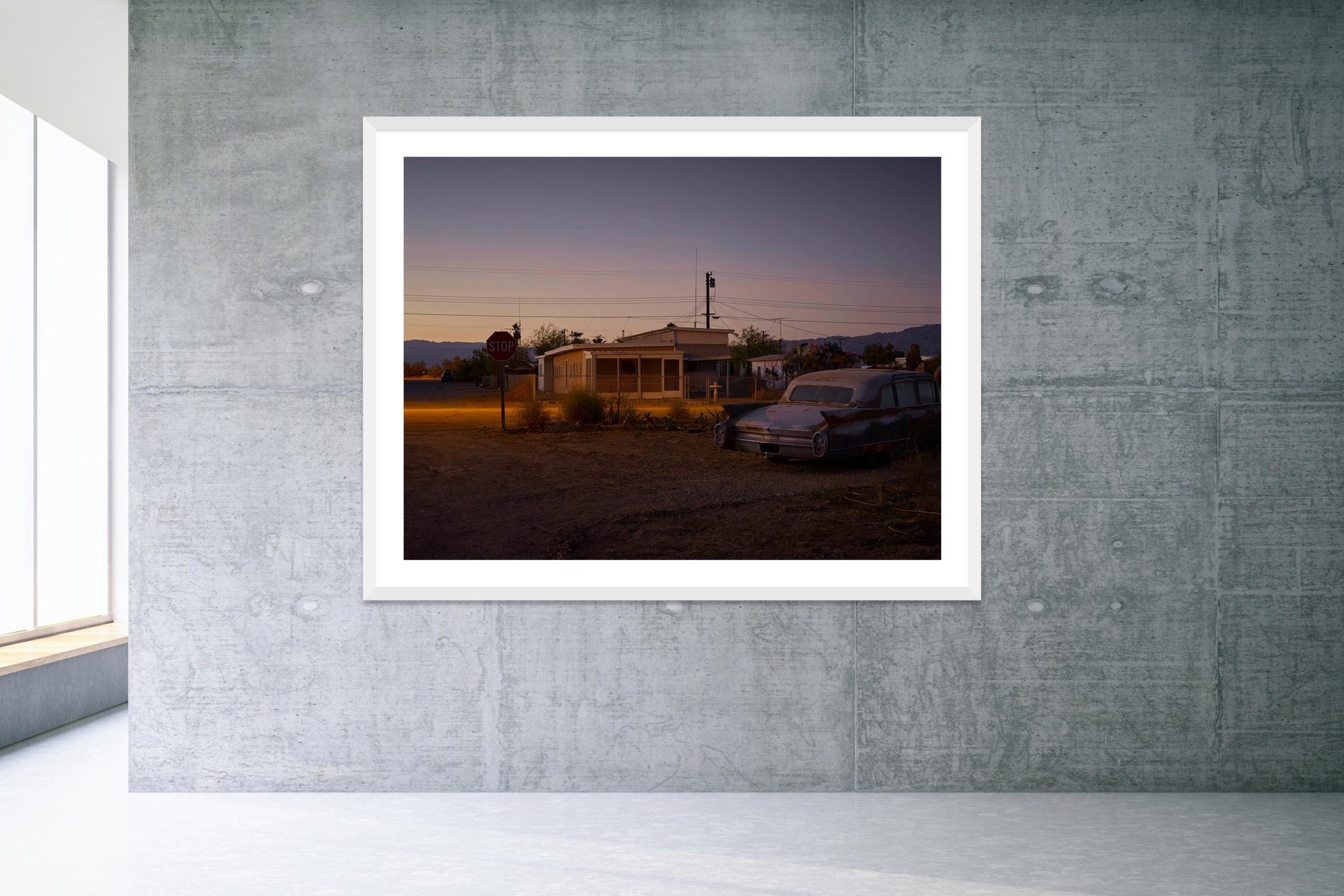 Some Velvet Morning - White Frame - Welcome To Bombay Beach Collection - Fine Art Photography by Toby Dixon