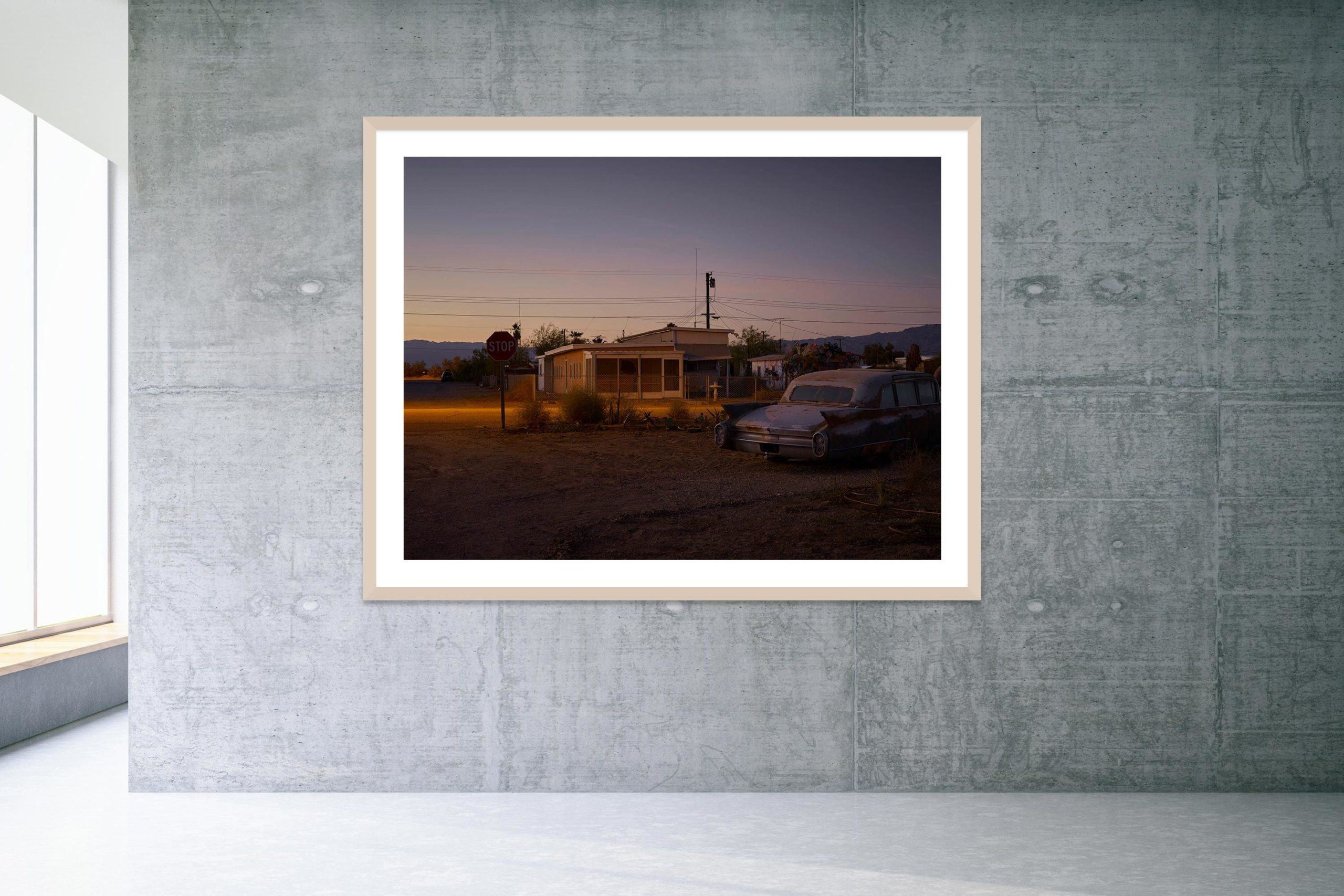 Some Velvet Morning - Timber Frame - Welcome To Bombay Beach Collection - Fine Art Photography by Toby Dixon